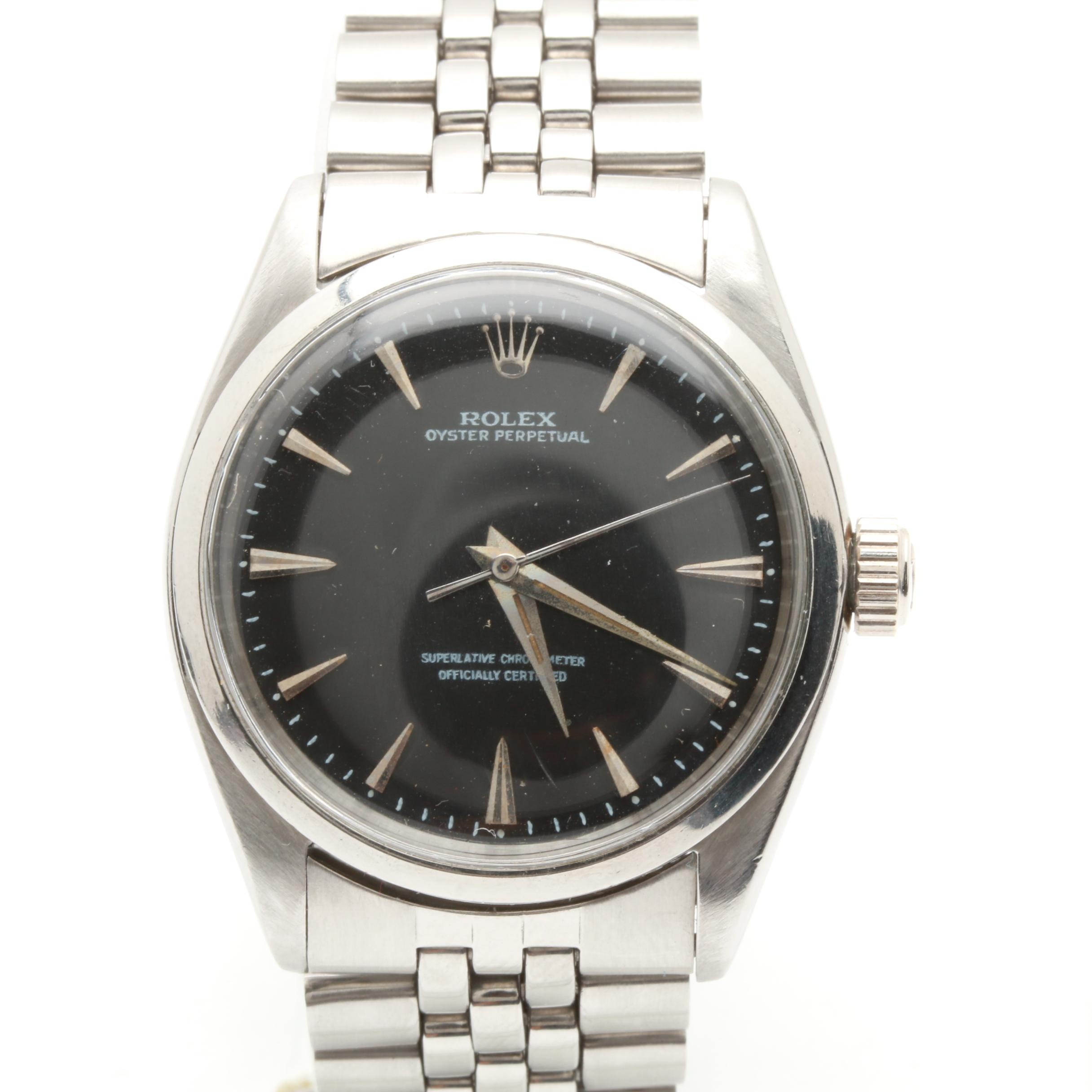 Rolex Oyster Perpetual Stainless Steel Wristwatch