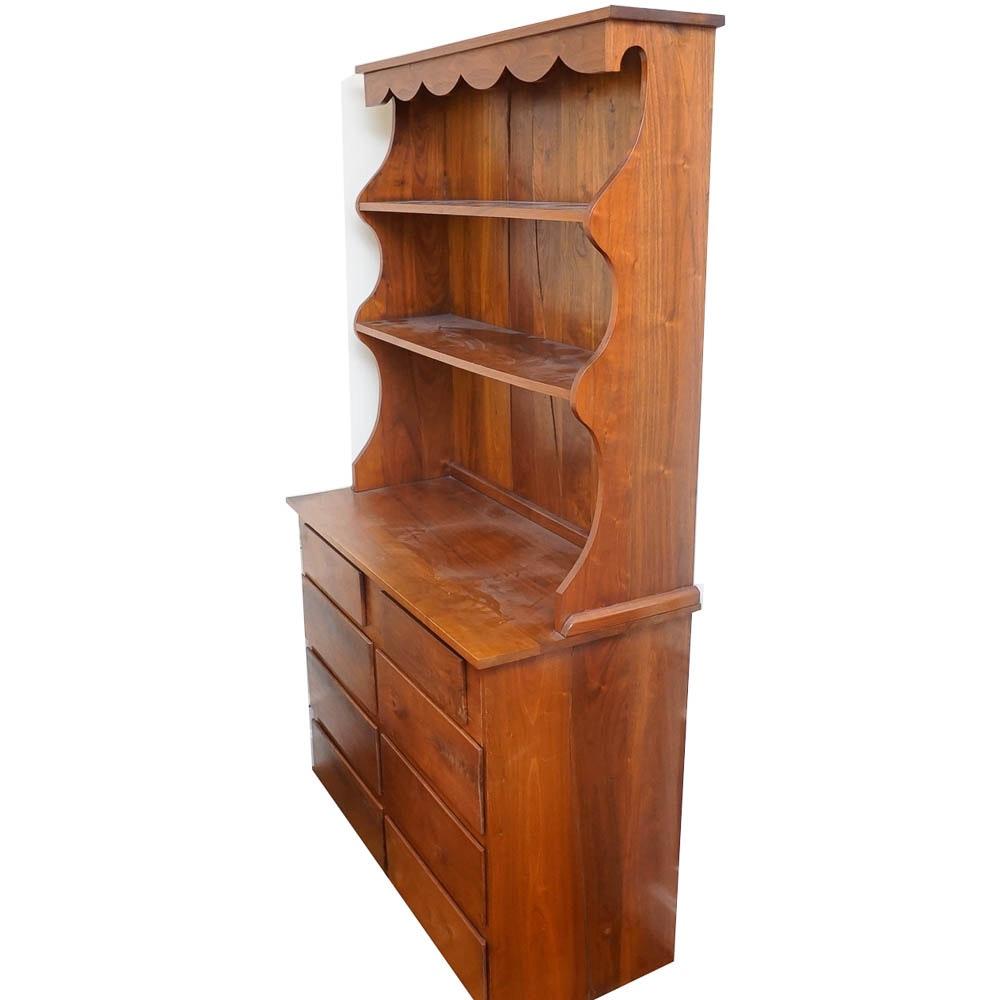 Walnut Hutch Cabinet