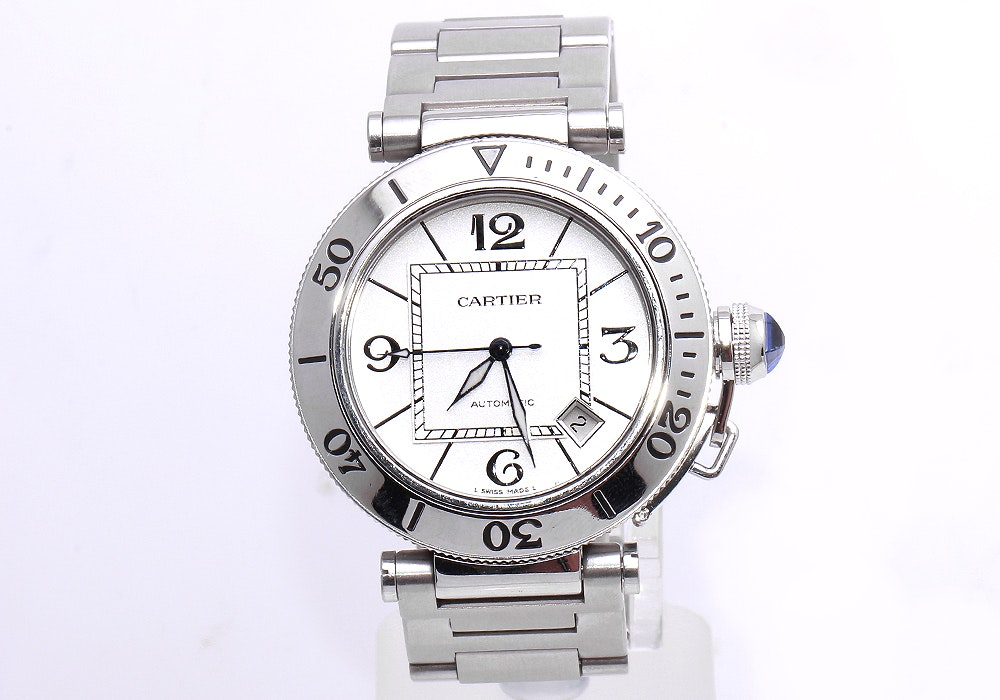Cartier Pasha W31080M7 Stainless Steel Wristwatch