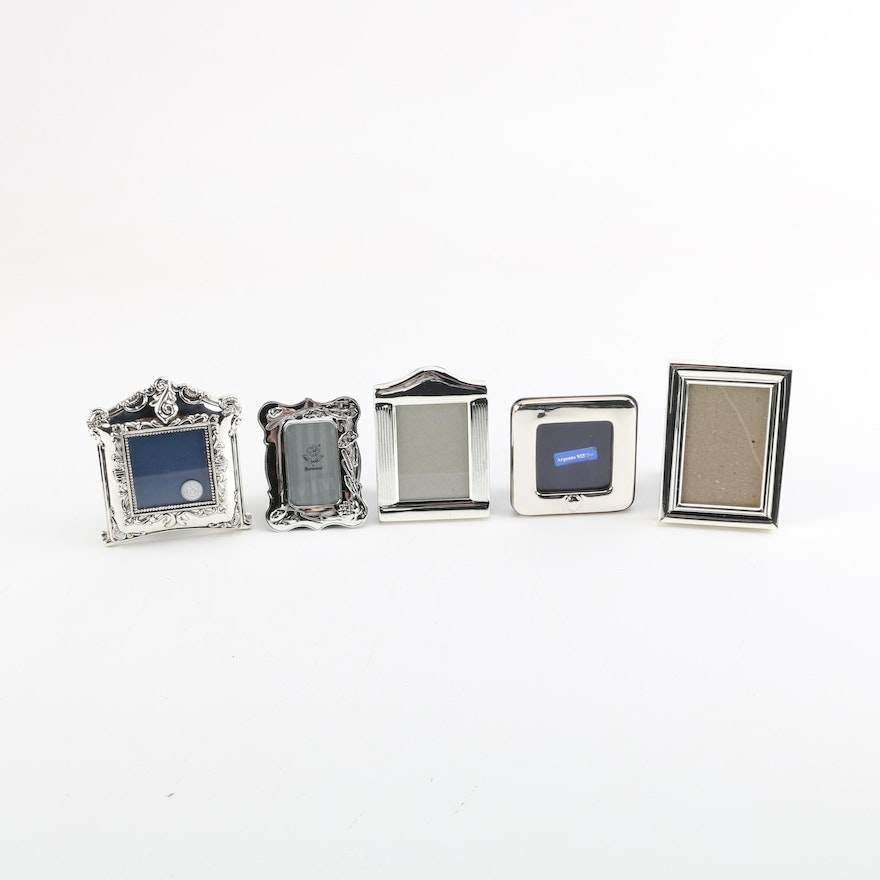 Italian Sterling Silver Picture Frame With Silver Plate Frames Ebth