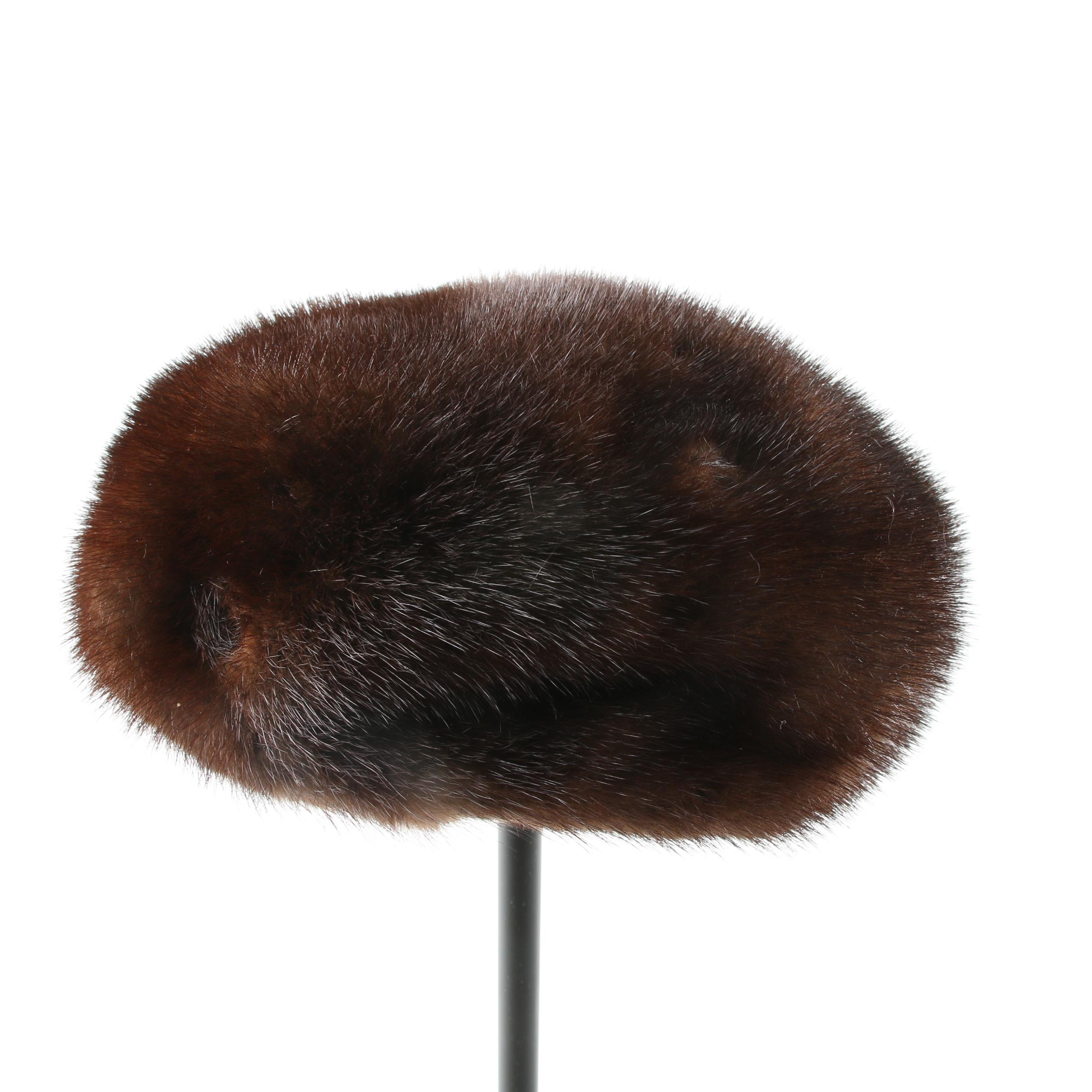 Women's Vintage Mink Fur Hat with Box