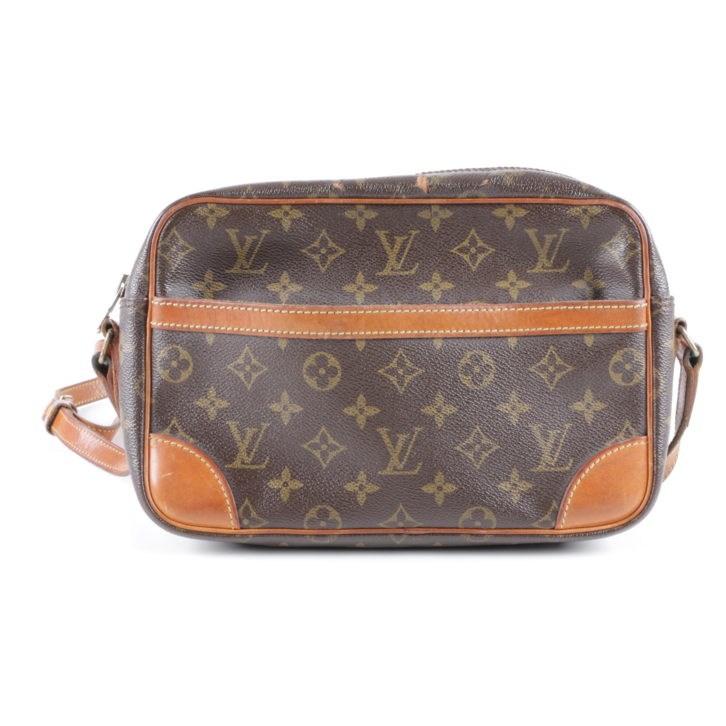 Vintage Louis Vuitton Monogram Canvas Crossbody Bag Ebth
