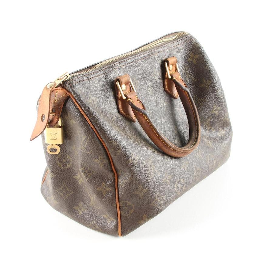 ff7dbb9b789f Louis Vuitton Speedy Monogram Handbag   EBTH