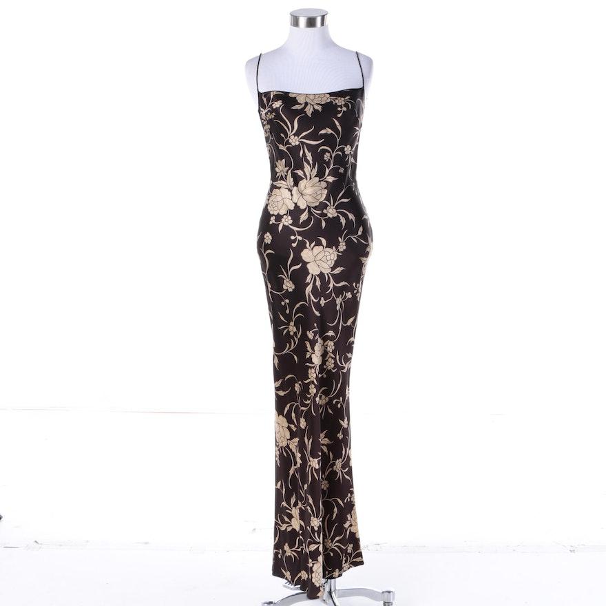 Circa 1990s John Galliano Floral Gown : EBTH