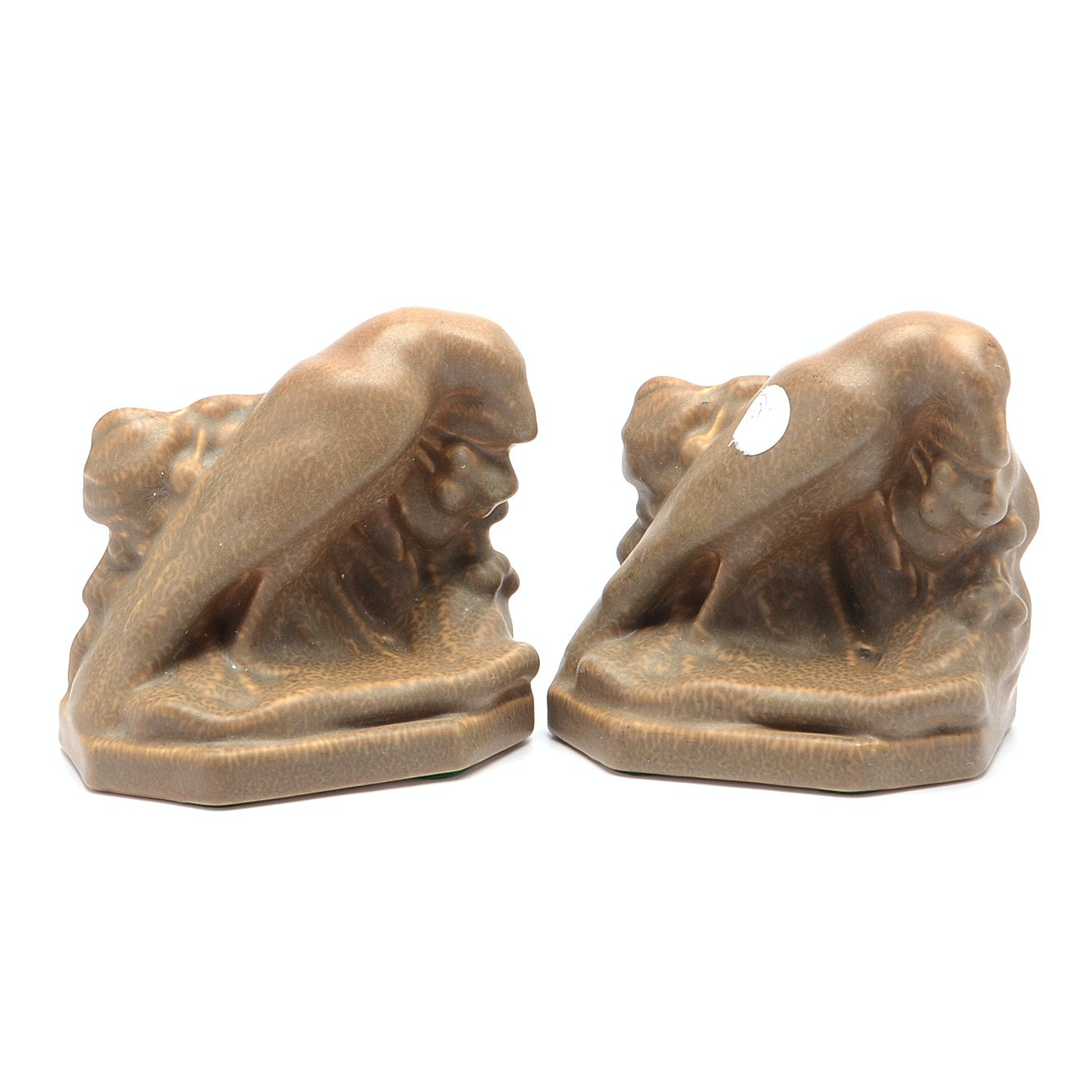 Rookwood Pottery 1921 Rook Bookends