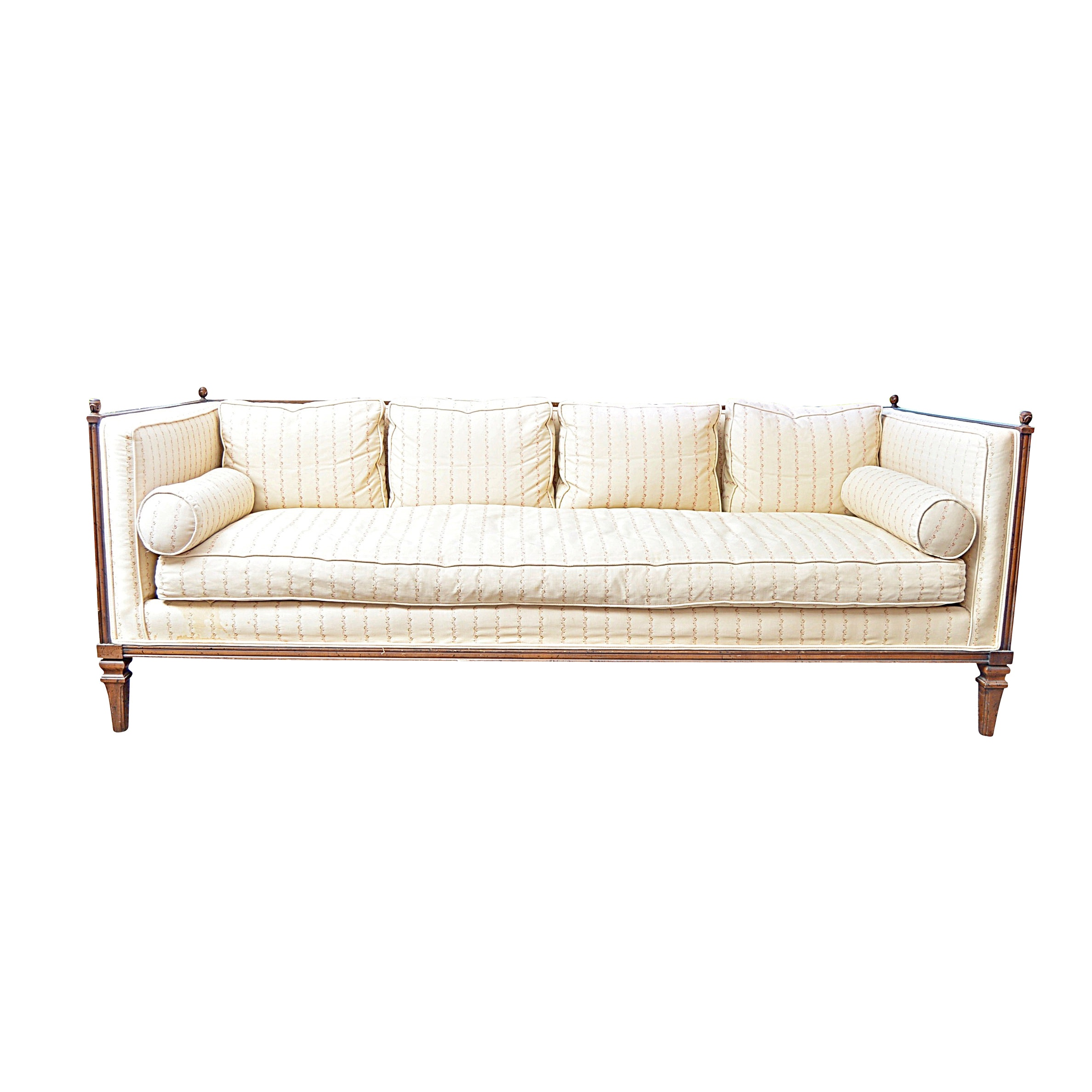 Neoclassic Style Down and Feather-Filled Sofa