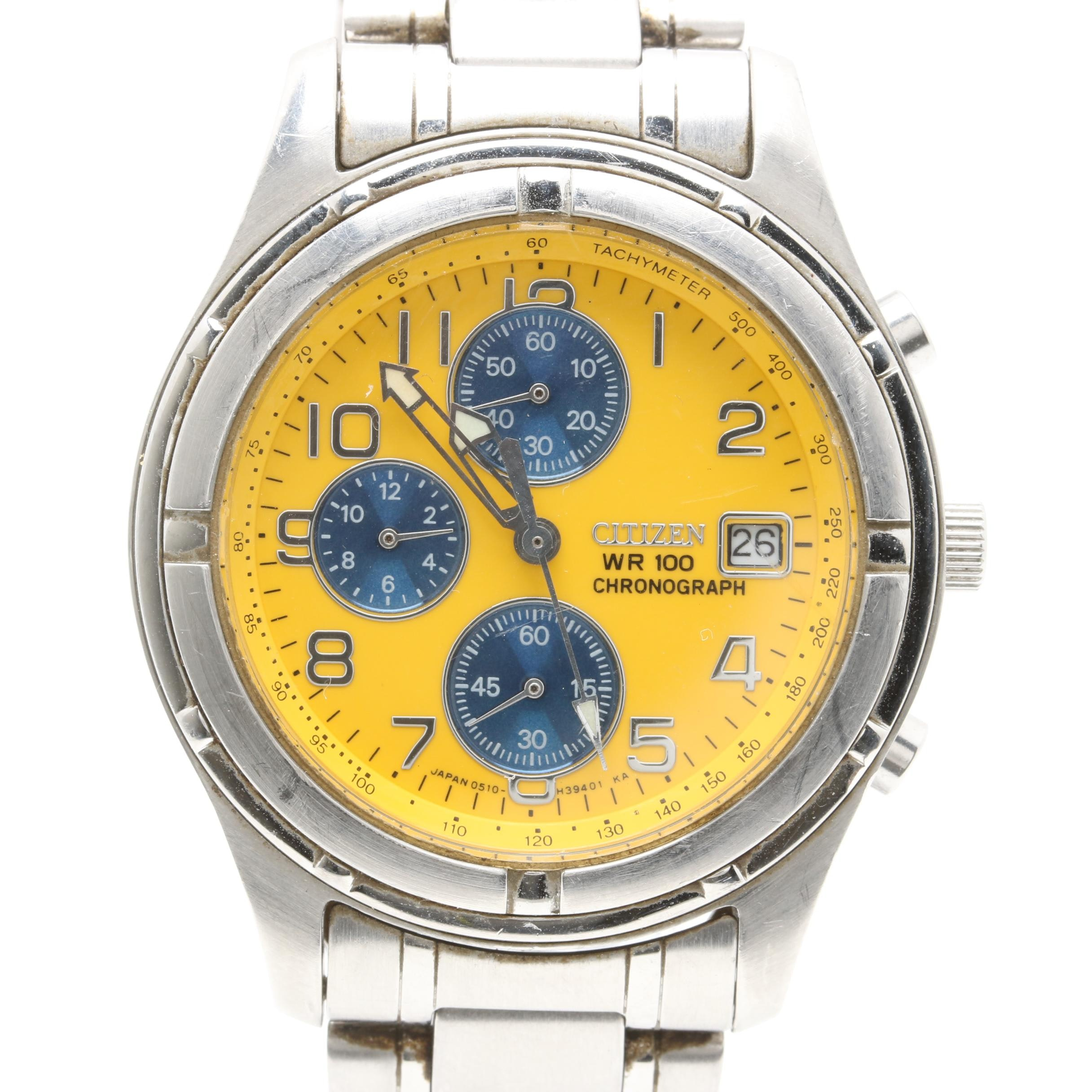 Citizen Watch Co Chronograph Stainless Steel Wristwatch