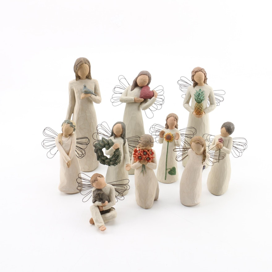 Willow Tree Angel Of Summer Wooden Angel Figurines