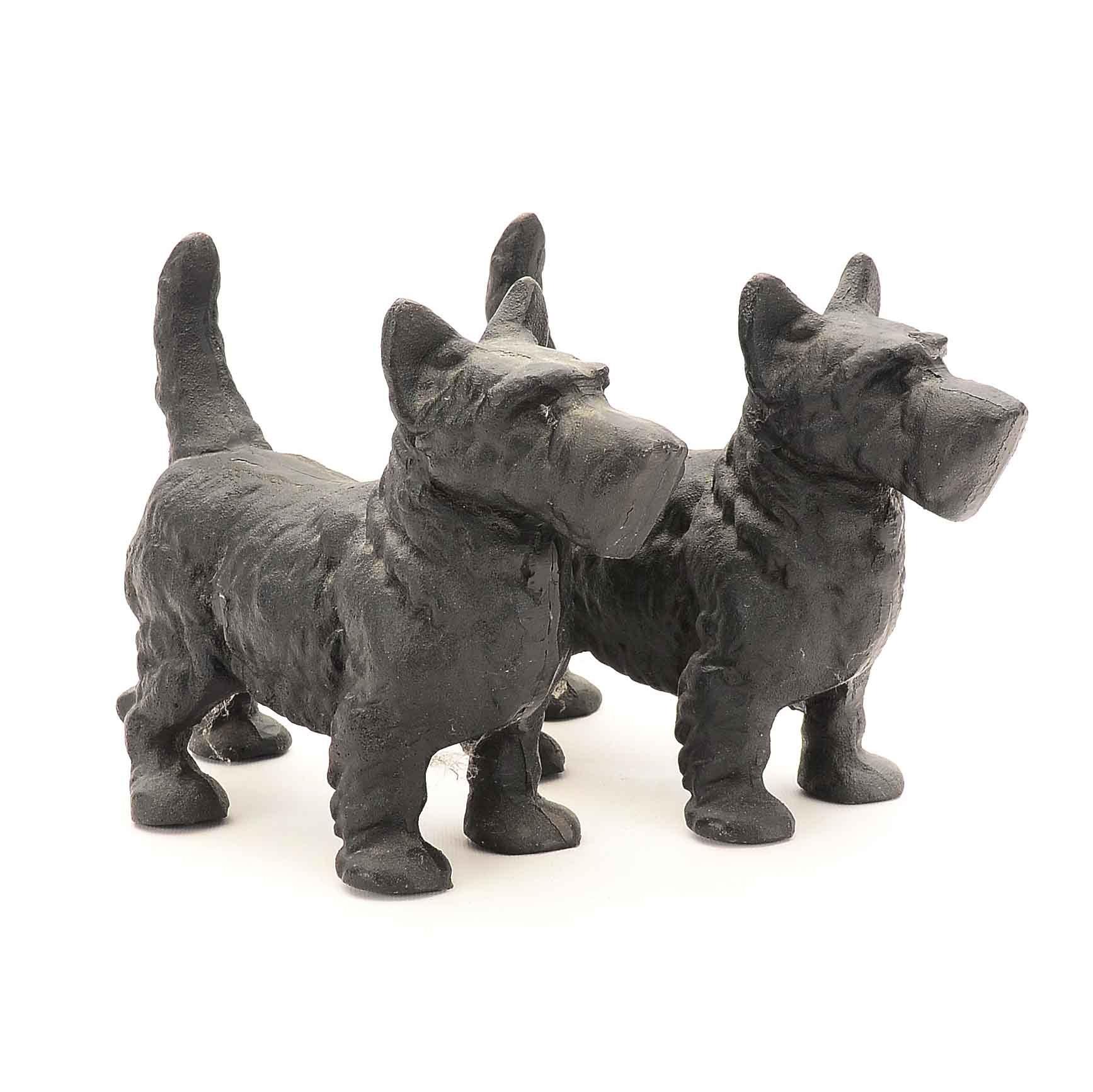 Pair of Cast Iron Scottie Dog Doorstops