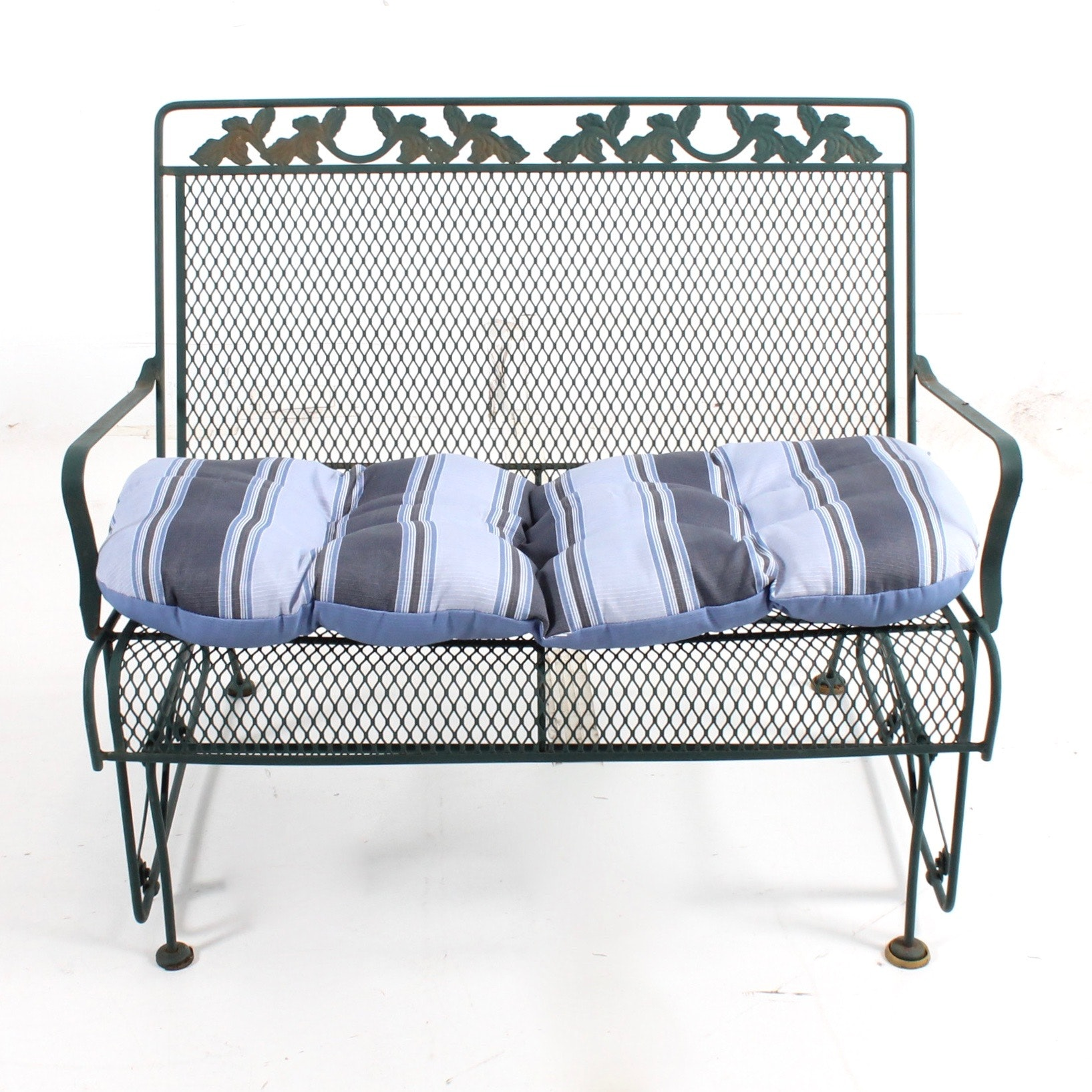 Wrought Iron Patio Glider Settee