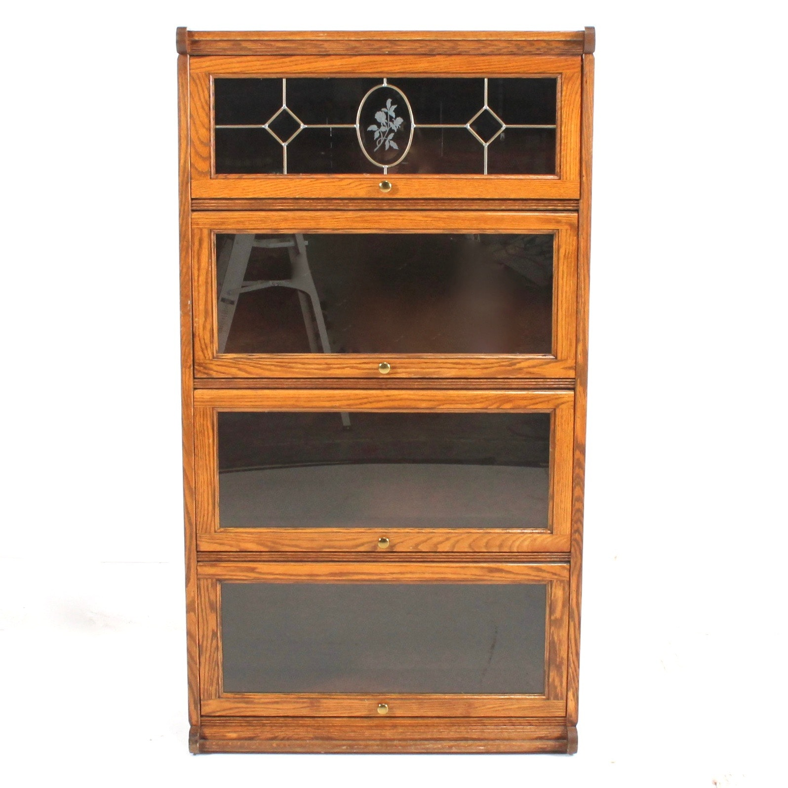 Creations Oak And Glass Barrister Bookcase ...