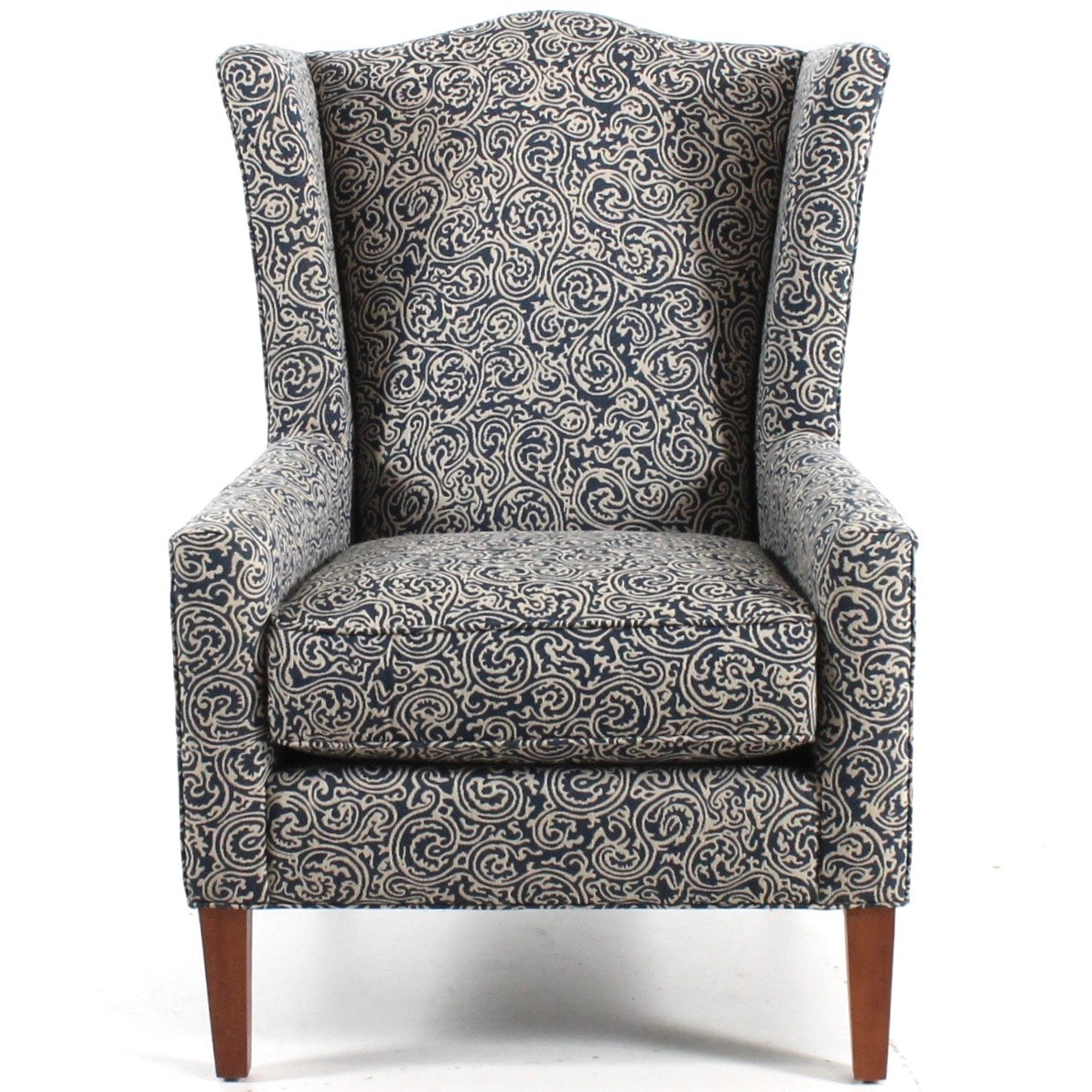 Contemporary Wing Back Chair by Craftmaster for Hickorycraft