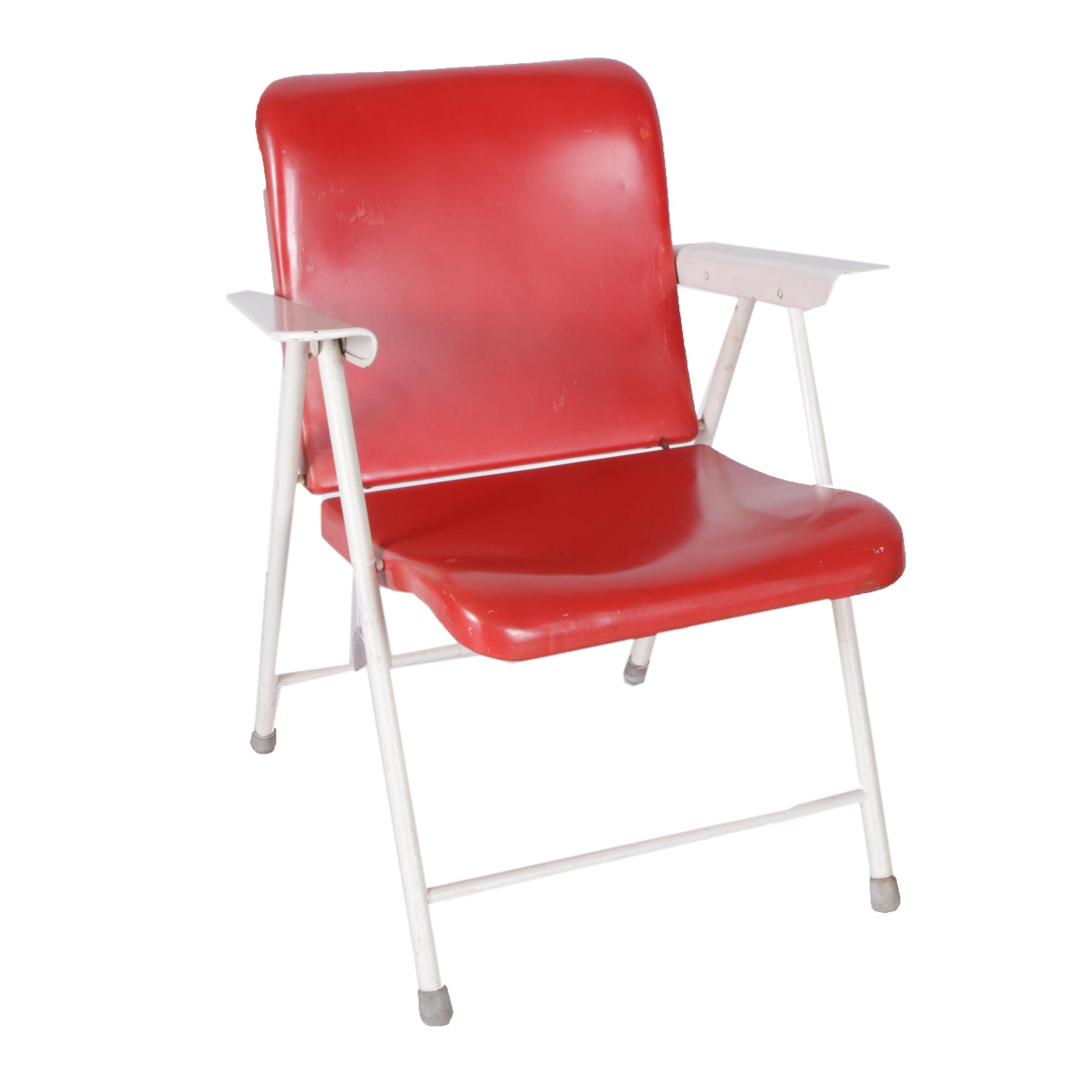 Vintage Mid Century Modern Folding Chair By Russel Wright For Samson Chairs  ...