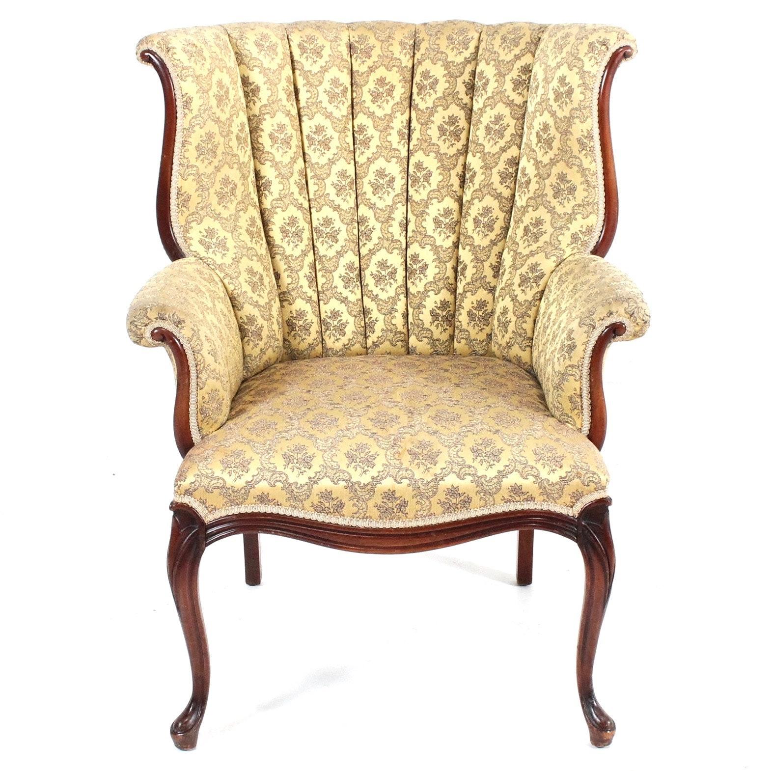 Vintage Fan Back Arm Chair