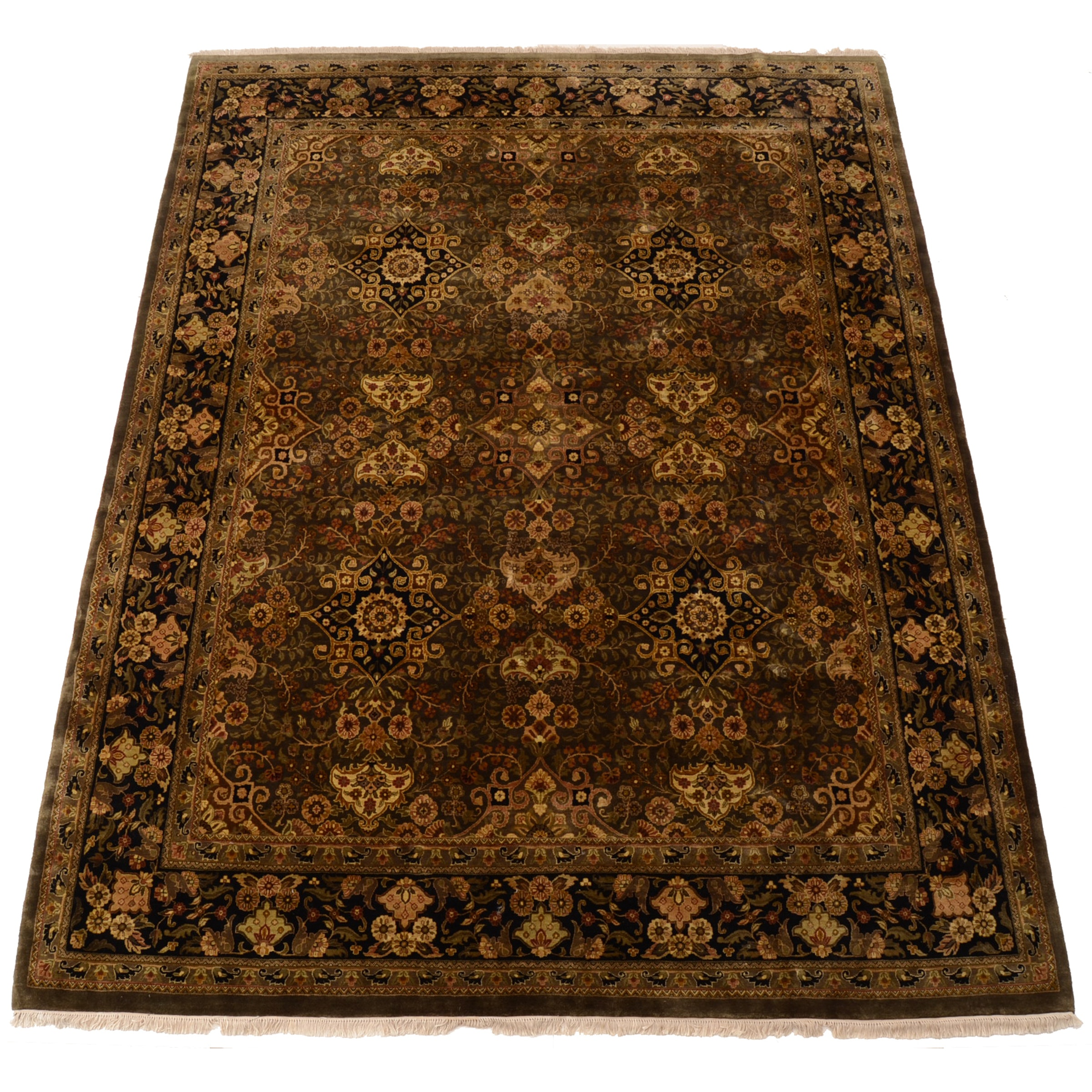 Hand-Knotted Indian Wool Area Rug by Kaleen