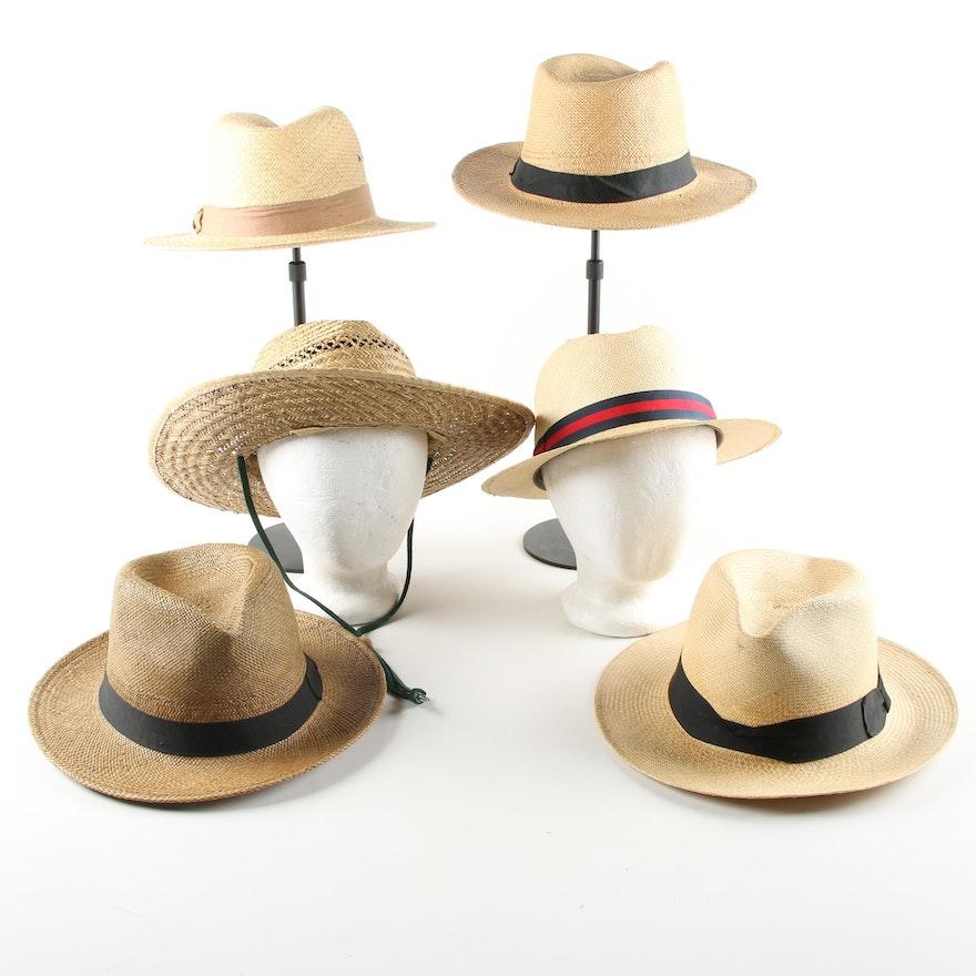 327473e74a2cb Men s Woven Straw Sun Hats Featuring Stetson   EBTH