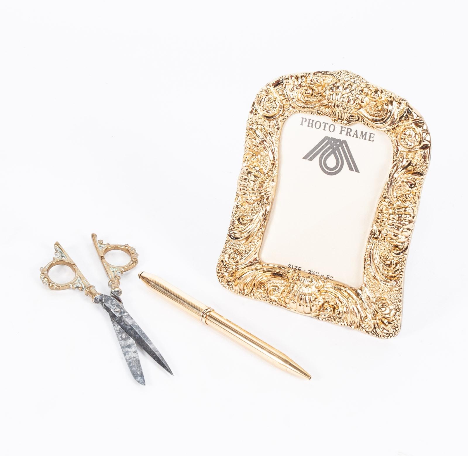 Gold Tone Desk Accessories