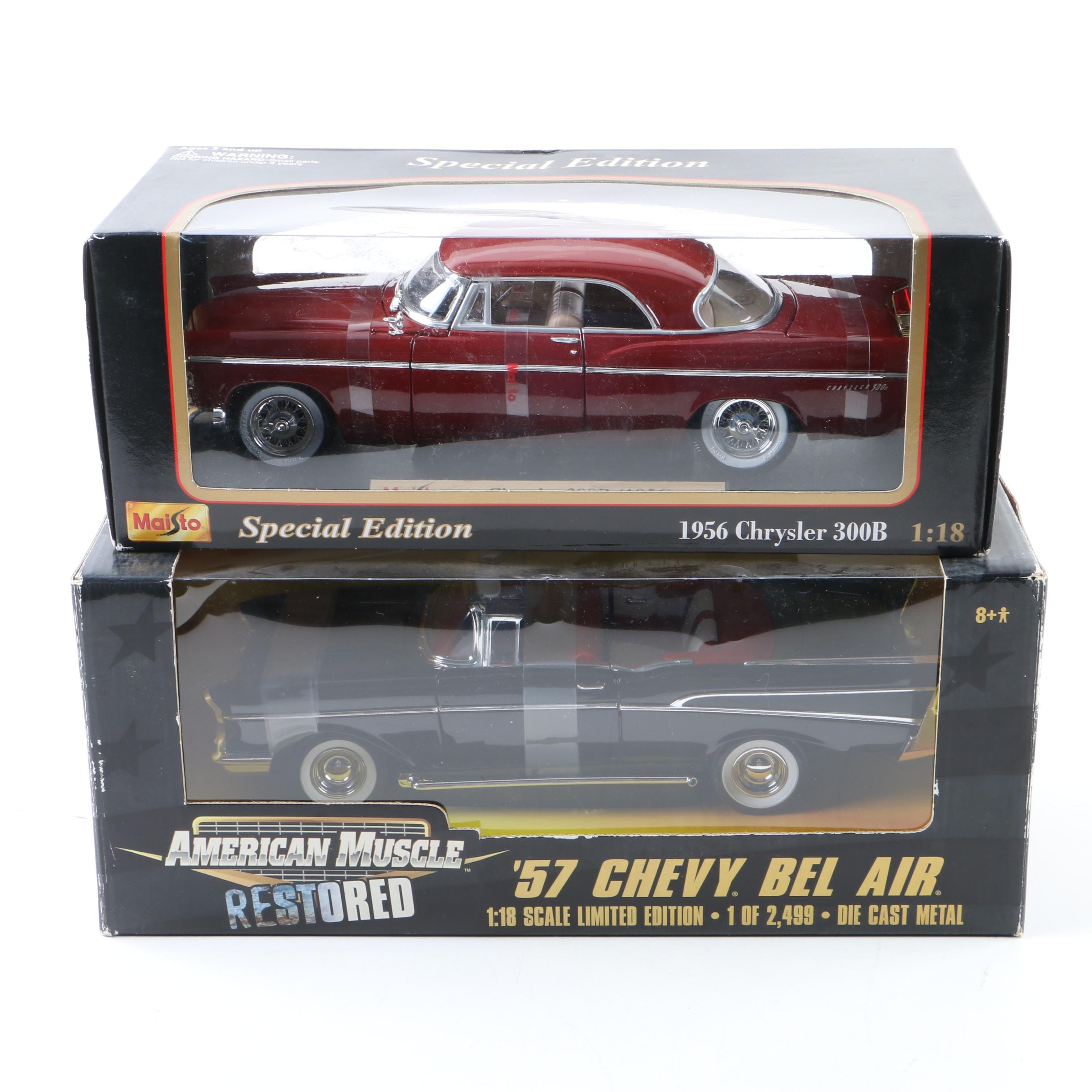 Maisto and Ertl American Muscle Die-Cast Cars