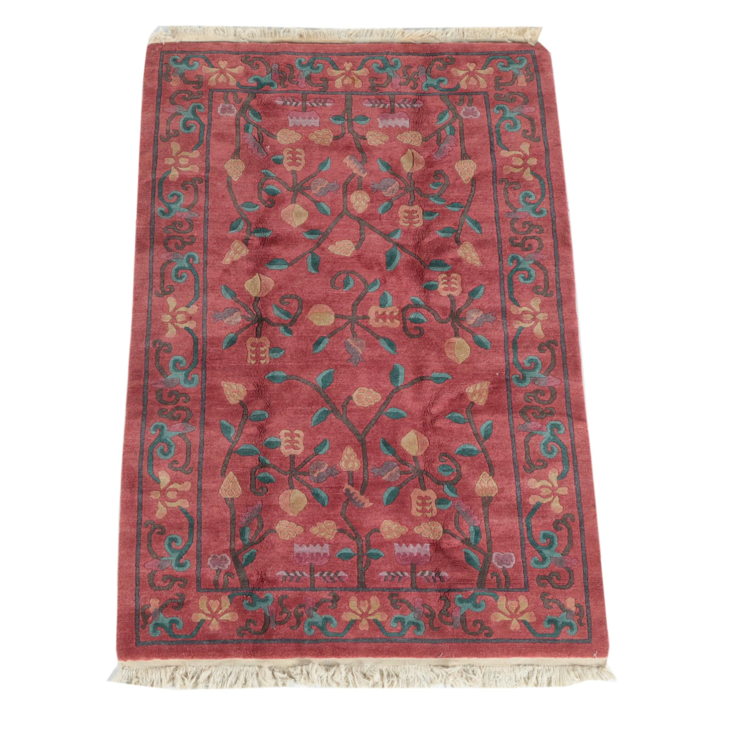Hand-Knotted Sculpted Nepalese Area Rug