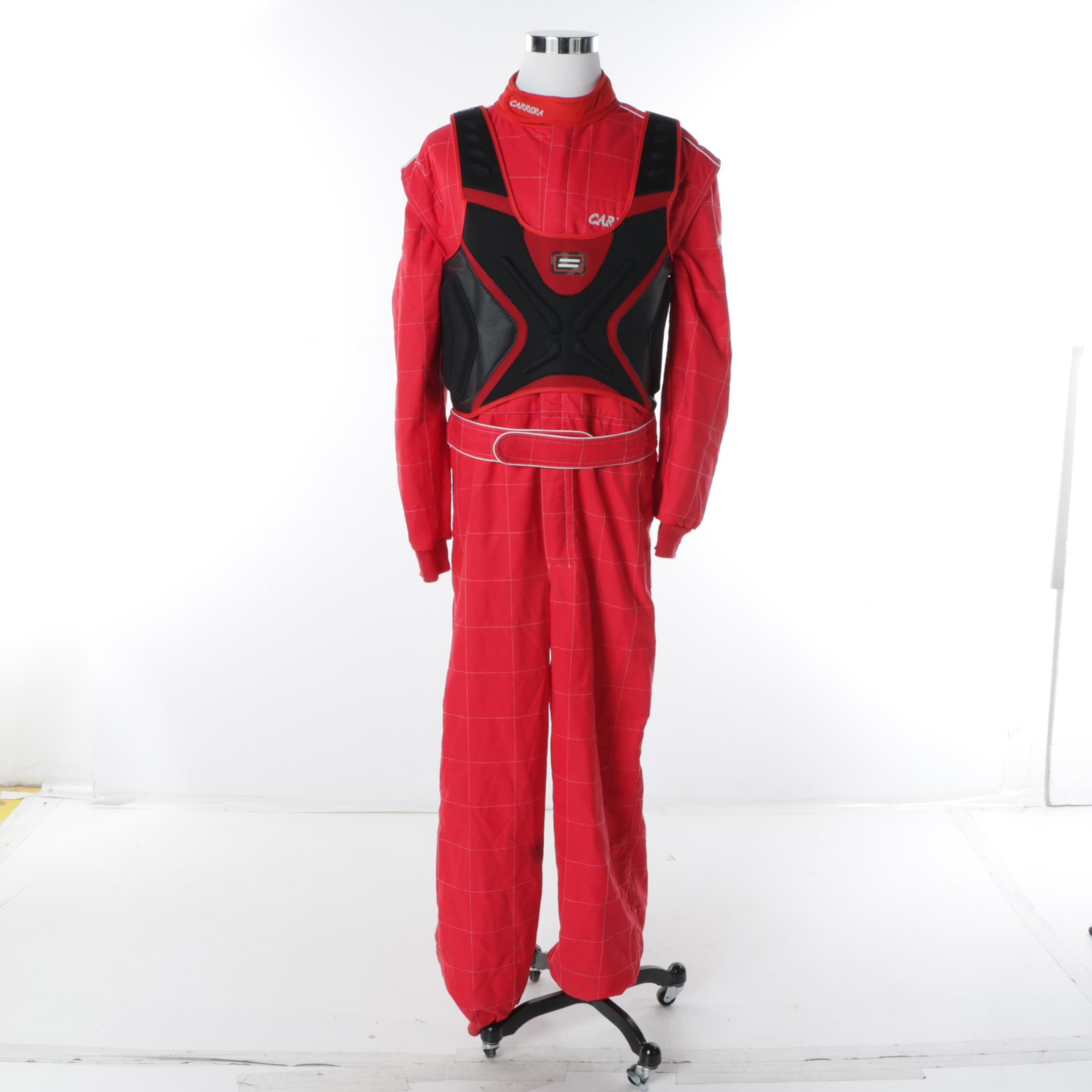 Men's Carrera Racing Suit in Red and Shift Rib Guard