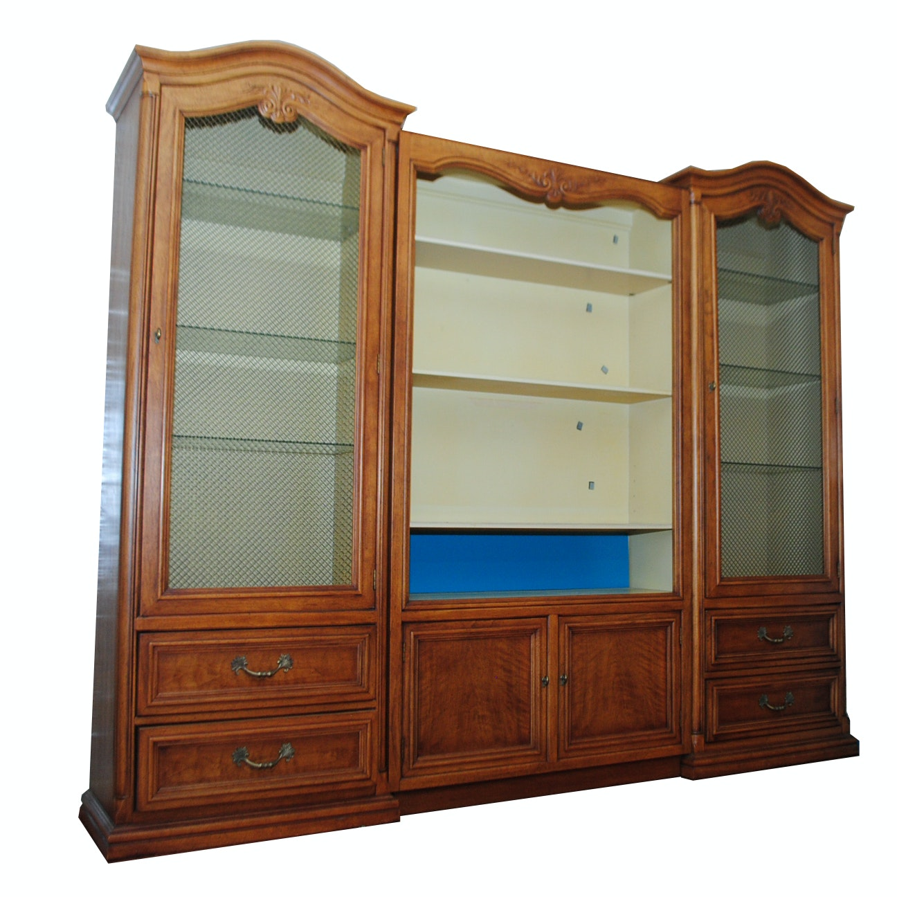 Vintage French Provincial China Cabinet by Henredon
