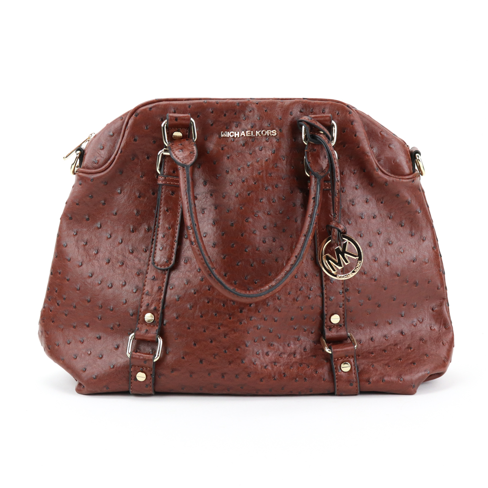 ab698100e31e ... discount code for michael kors bedford ostrich leather bowler bag 70704  3c15b