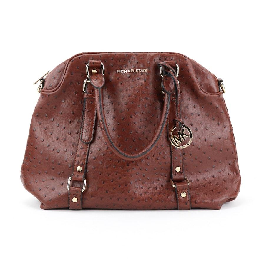 4c69018c6cbd Michael Kors Bedford Ostrich Leather Bowler Bag : EBTH