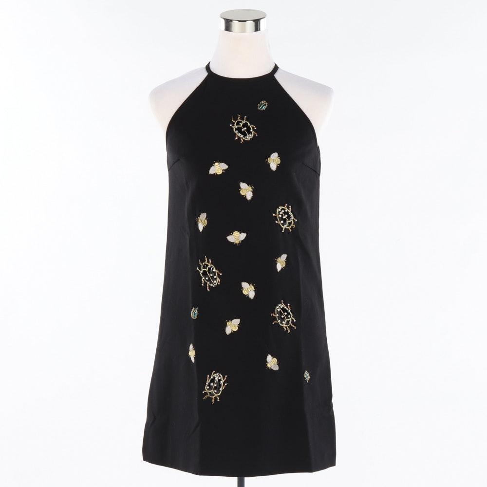 Victoria Beckham for Target Black Jeweled Bug Dress