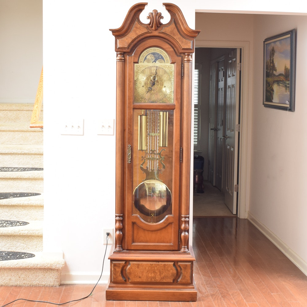 Howard Miller Grandfather Clock with Moon Phase Dial