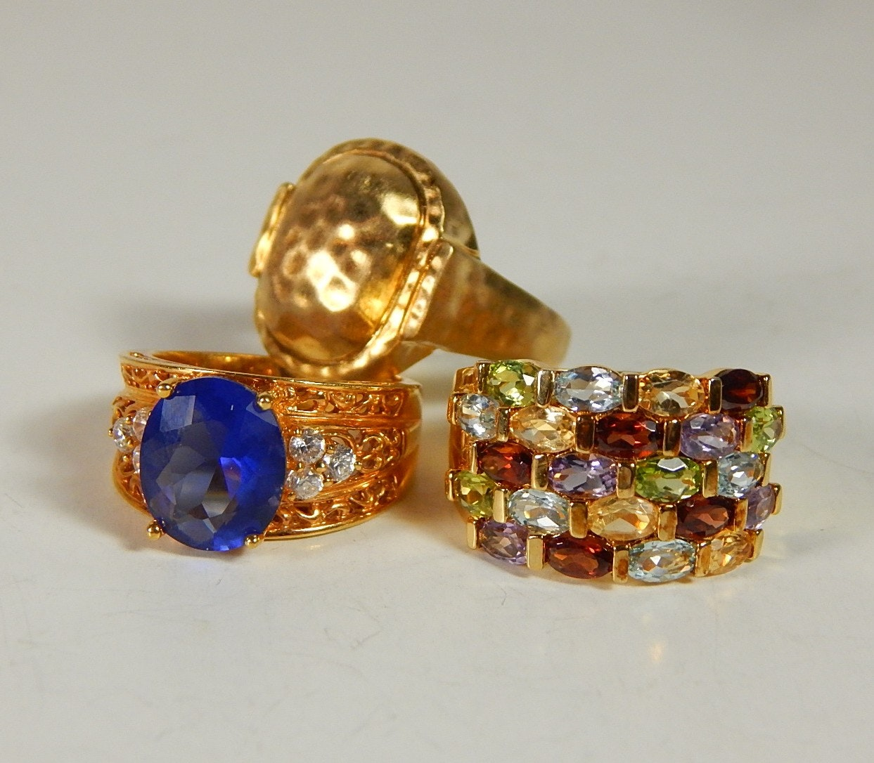 Sterling Silver and Multi-Stone Rings