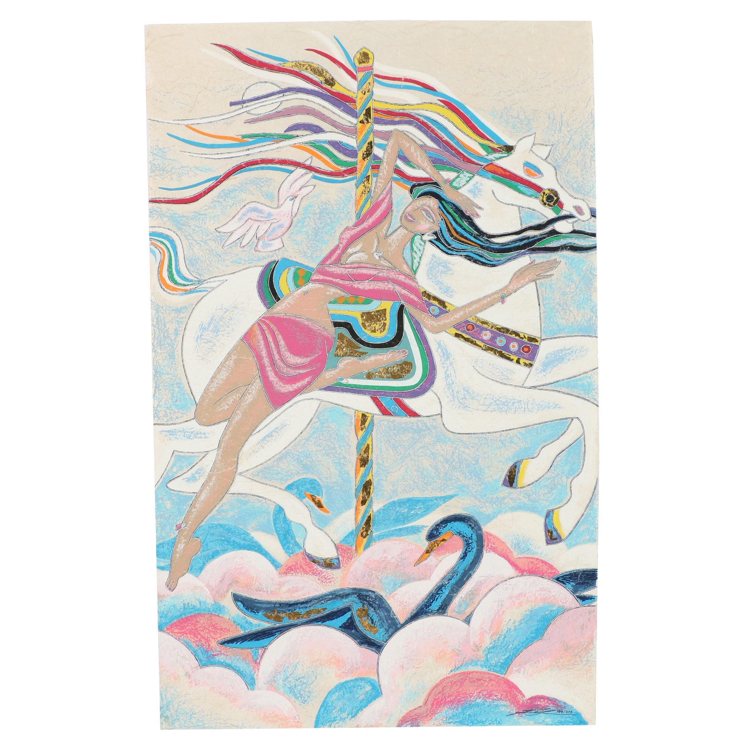 """Yamin Young Serigraph """"Carousel Fantasy"""""""