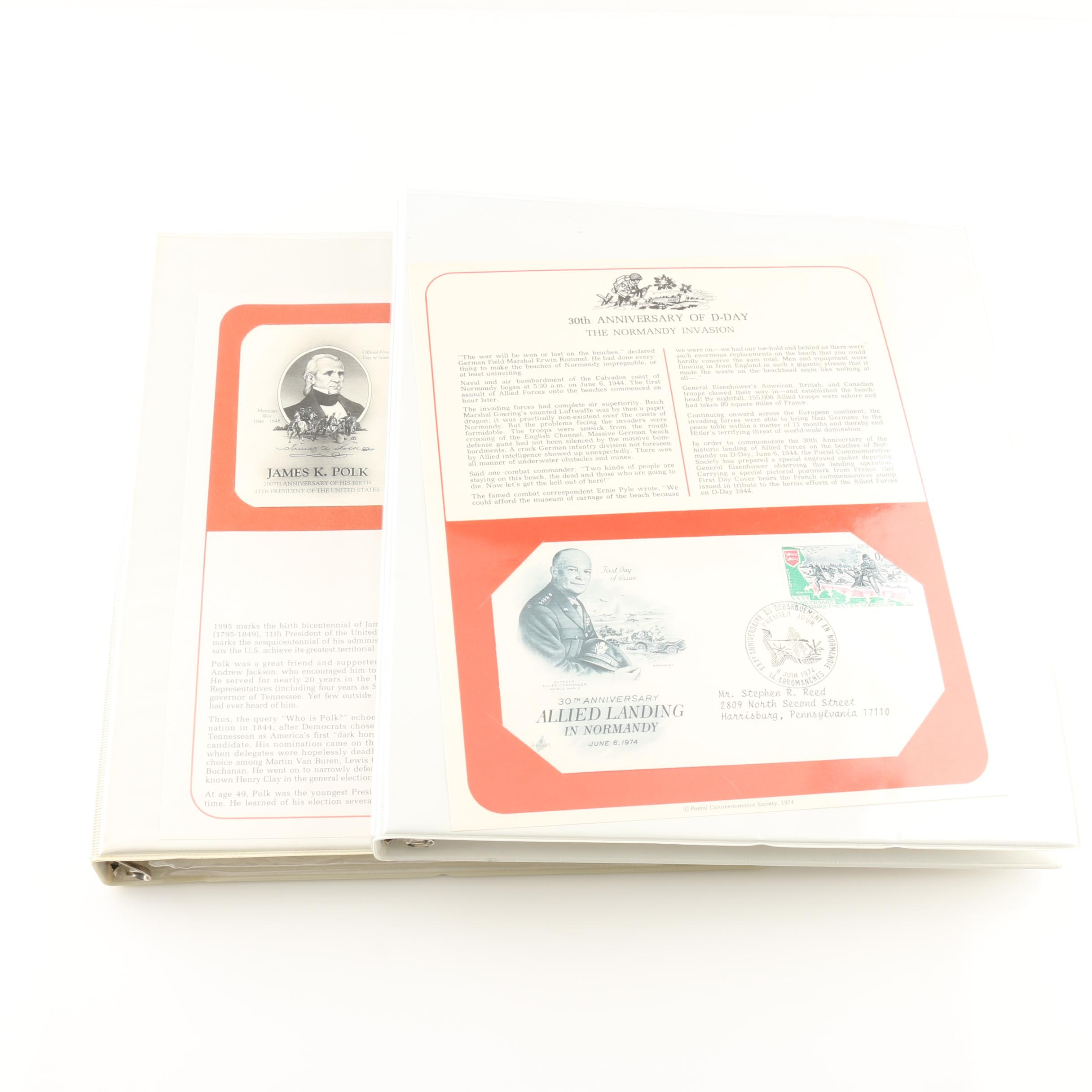 United States and International First Day Cover Albums