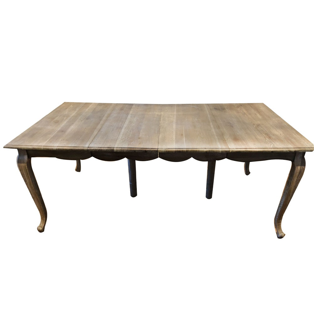 French Country Style White-Wash Dining Table