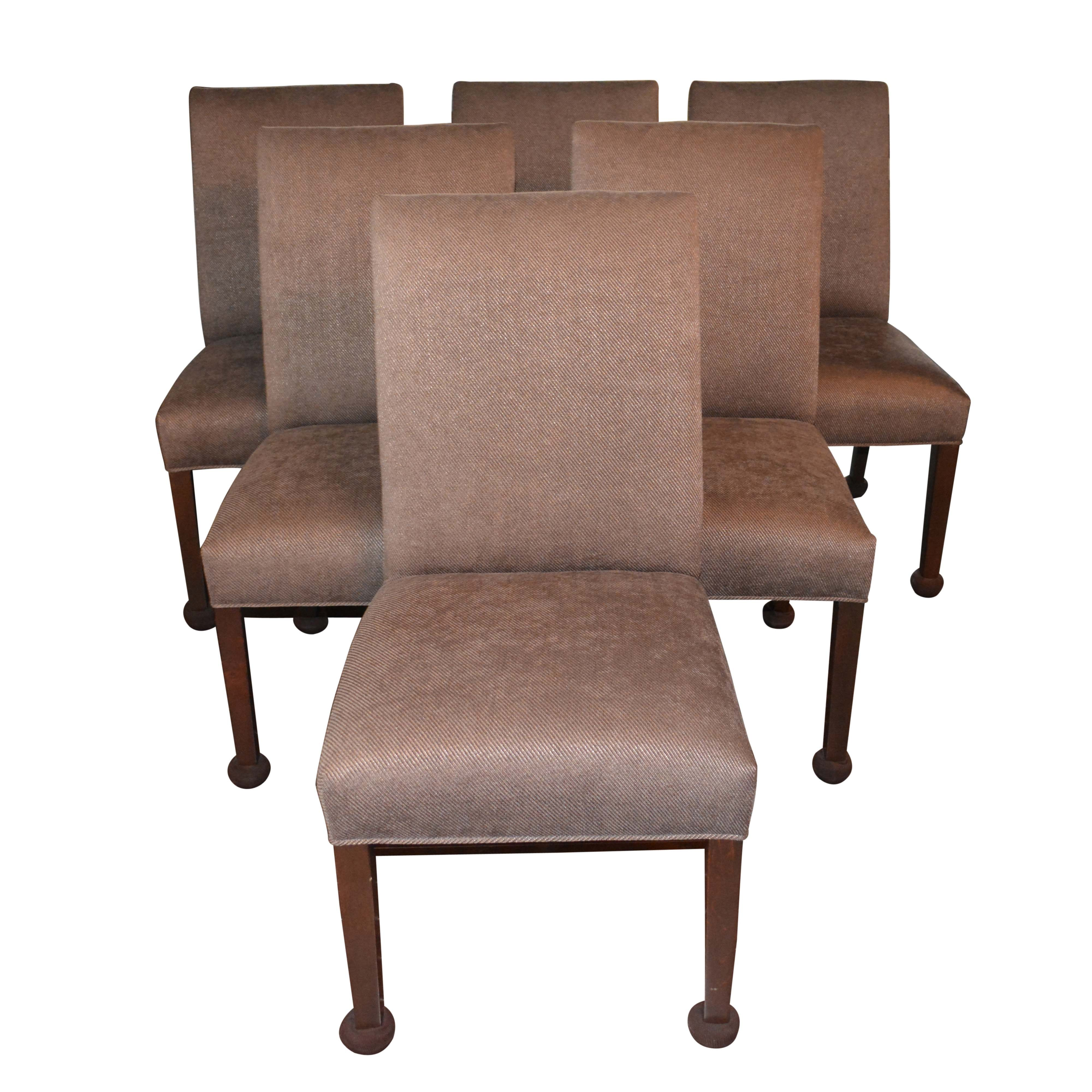 Superbe Ethan Allen Contemporary Upholstered Side Chairs ...