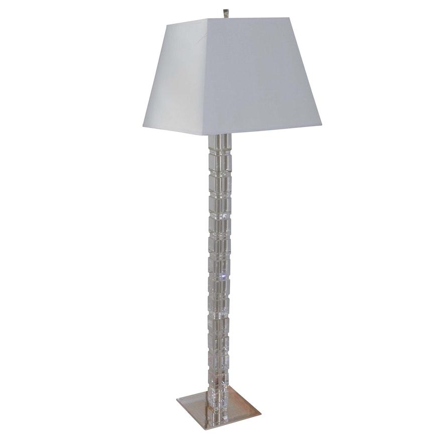 Ethan Allen Metal And Crystal Floor Lamp
