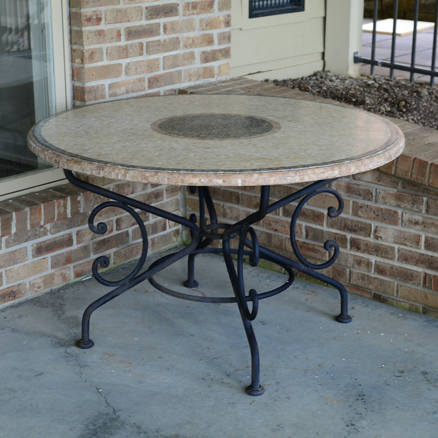 Ceramic Tile Patio Table