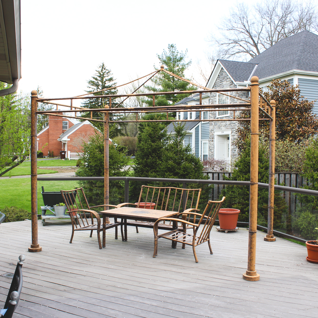 Frontgate Patio Furniture and Substantial Metal Gazebo EBTH