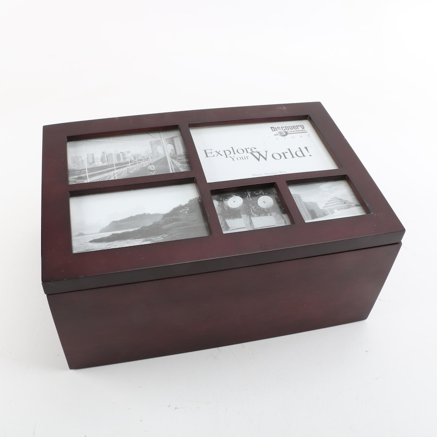 Discovery Channel Store Photo Storage Box With Frame Lid Ebth