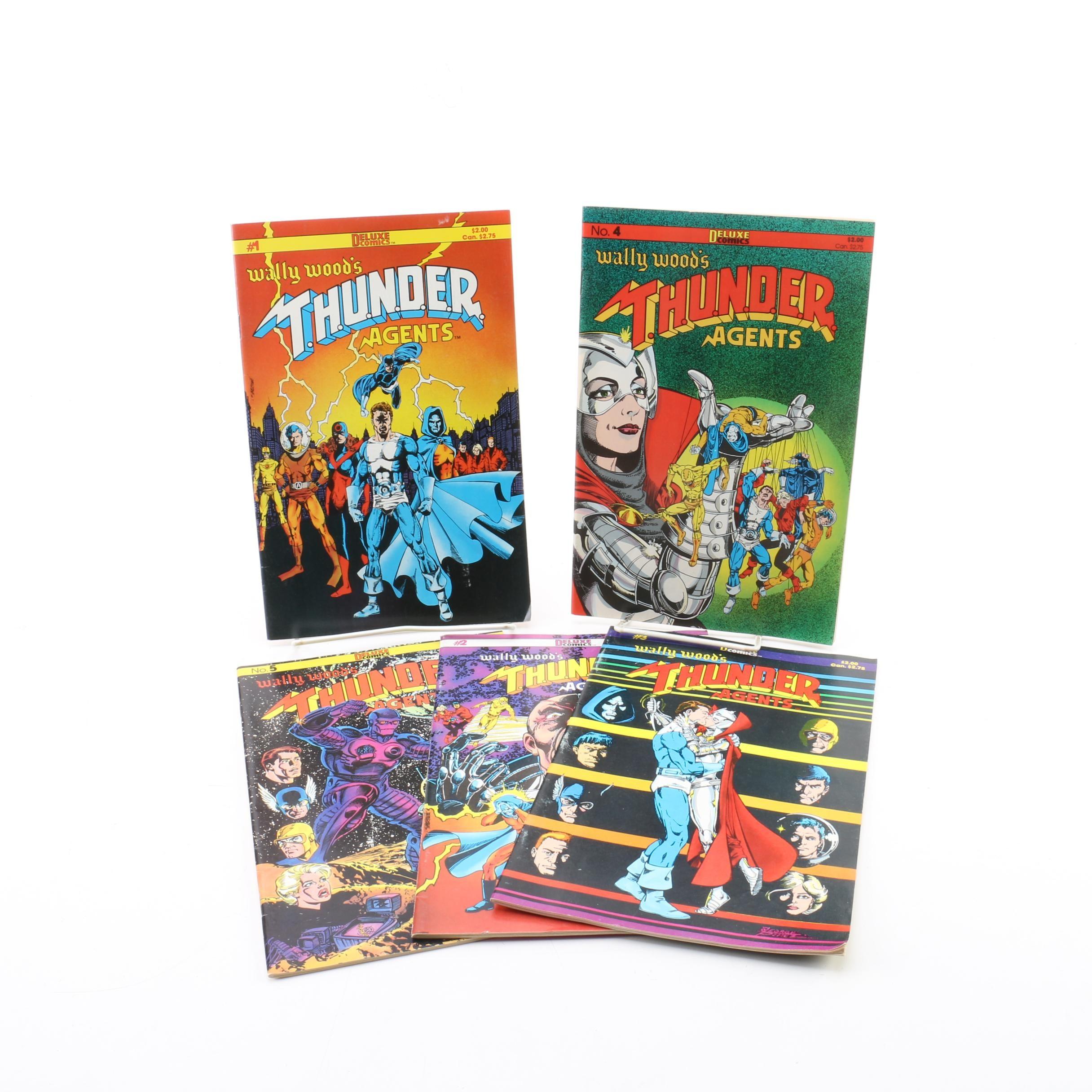 """Deluxe Comics """"Wally Wood's T.H.U.N.D.E.R. Agents"""" Comic Books"""