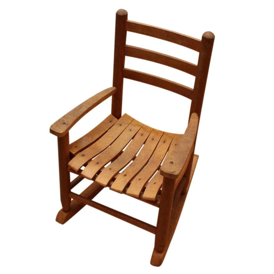 Childu0027s Wooden Rocking Chair ...