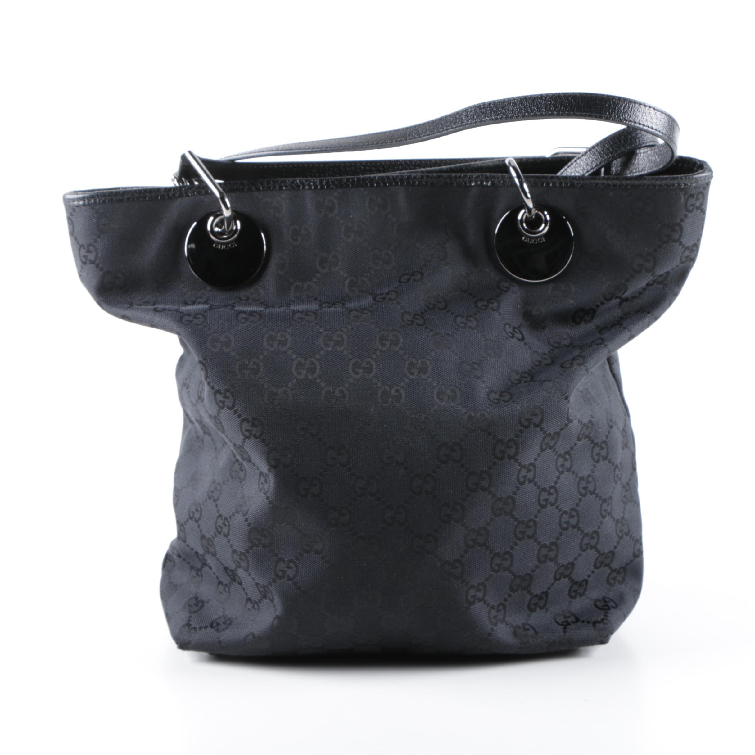 Gucci Black GG Canvas Eclipse Tote Bag