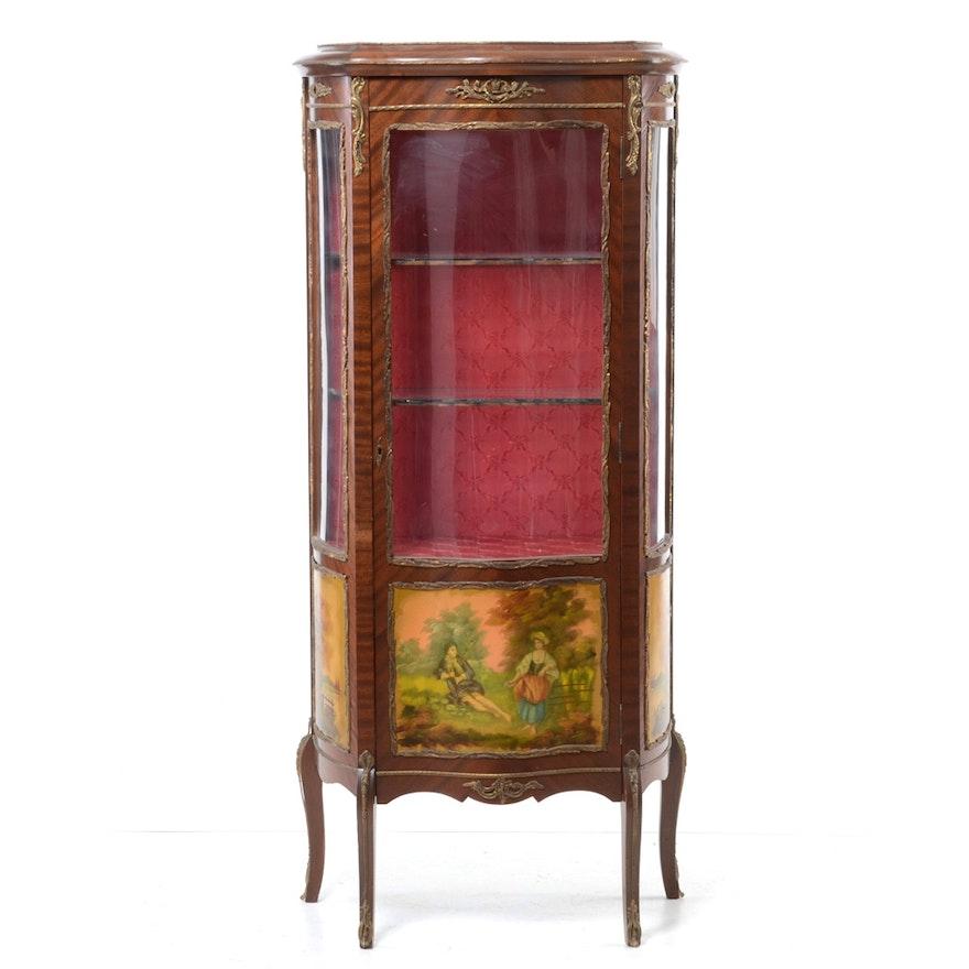 Vintage Louis XV Style Vitrine : EBTH