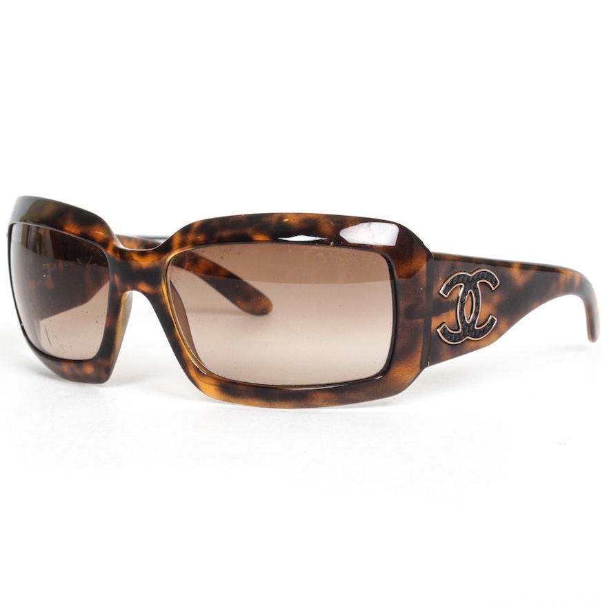 de156fc526d Chanel Tortoise Hued Acetate Sunglasses   EBTH