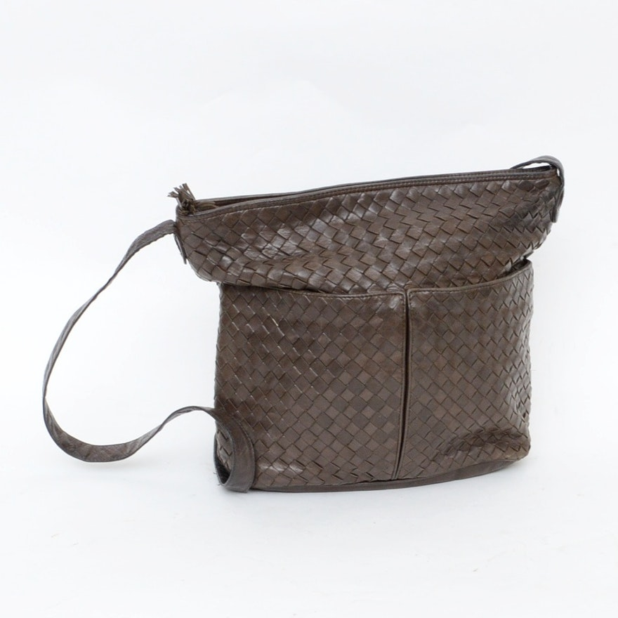 Bottega Veneta Brown Woven Leather Handbag 336262934b851