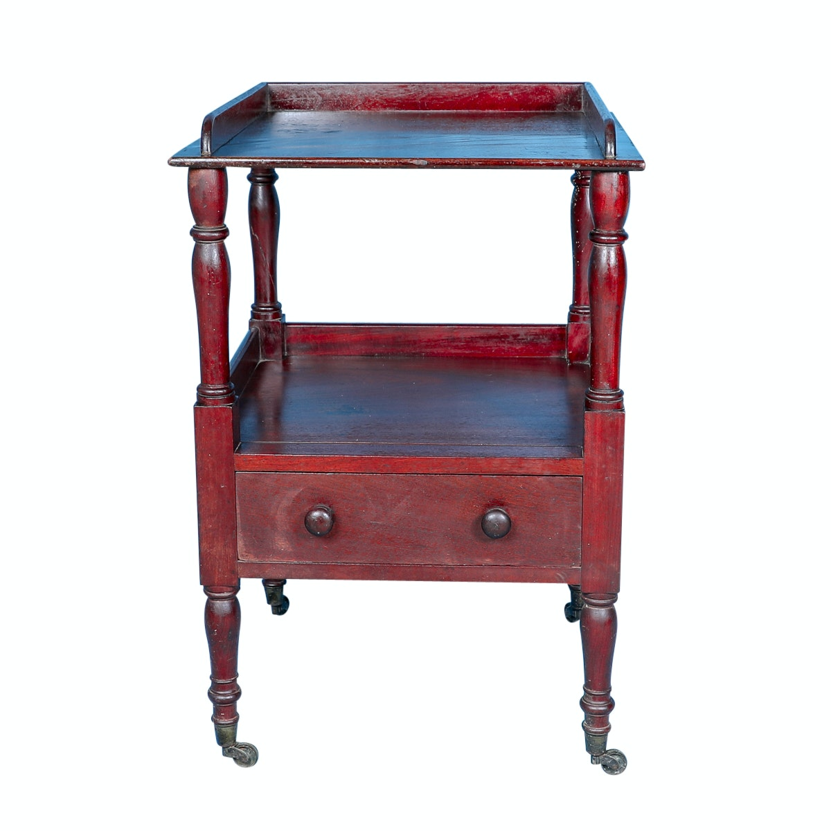 Antique Early Victorian Mahogany Side Table by Williams & Gibton