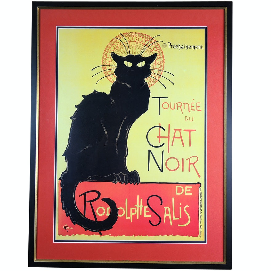 Offset Lithograph After Théophile Alexandre Steinlen Tournée Du Chat Noir