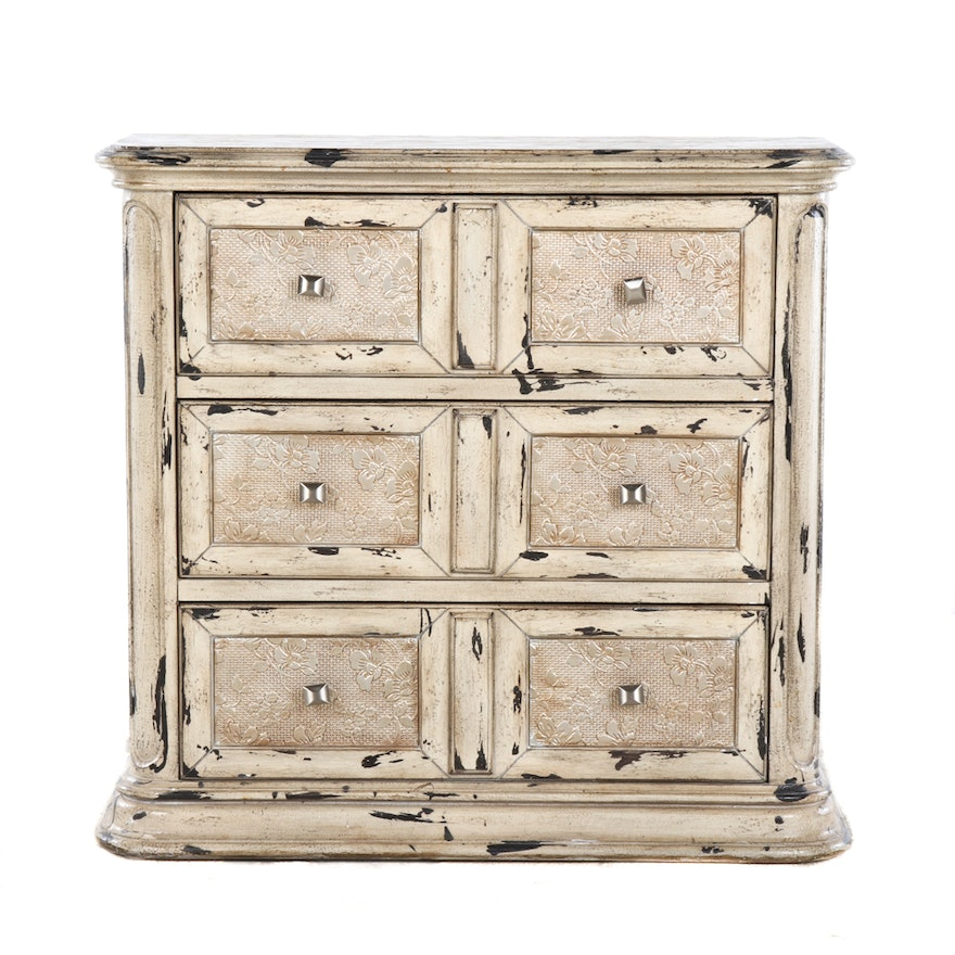 Distressed Chest Of Drawers By Top Art Furniture