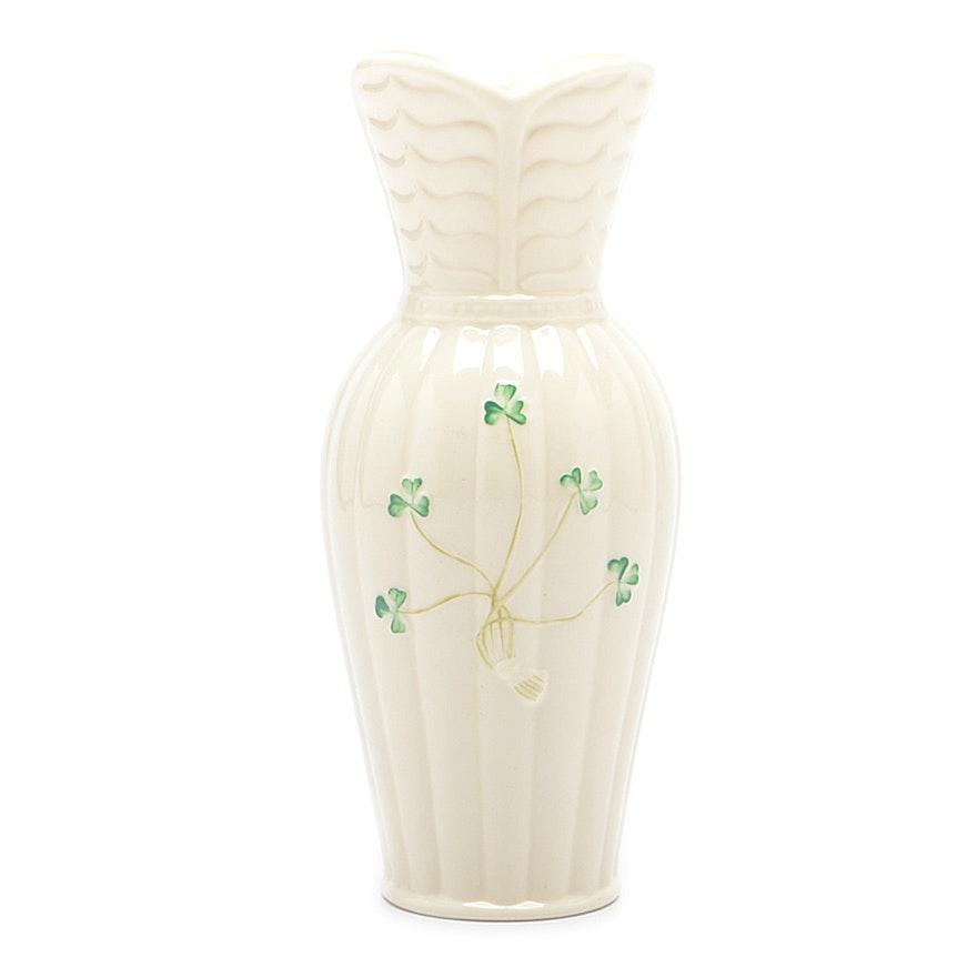 Irish Belleek Vase Ebth
