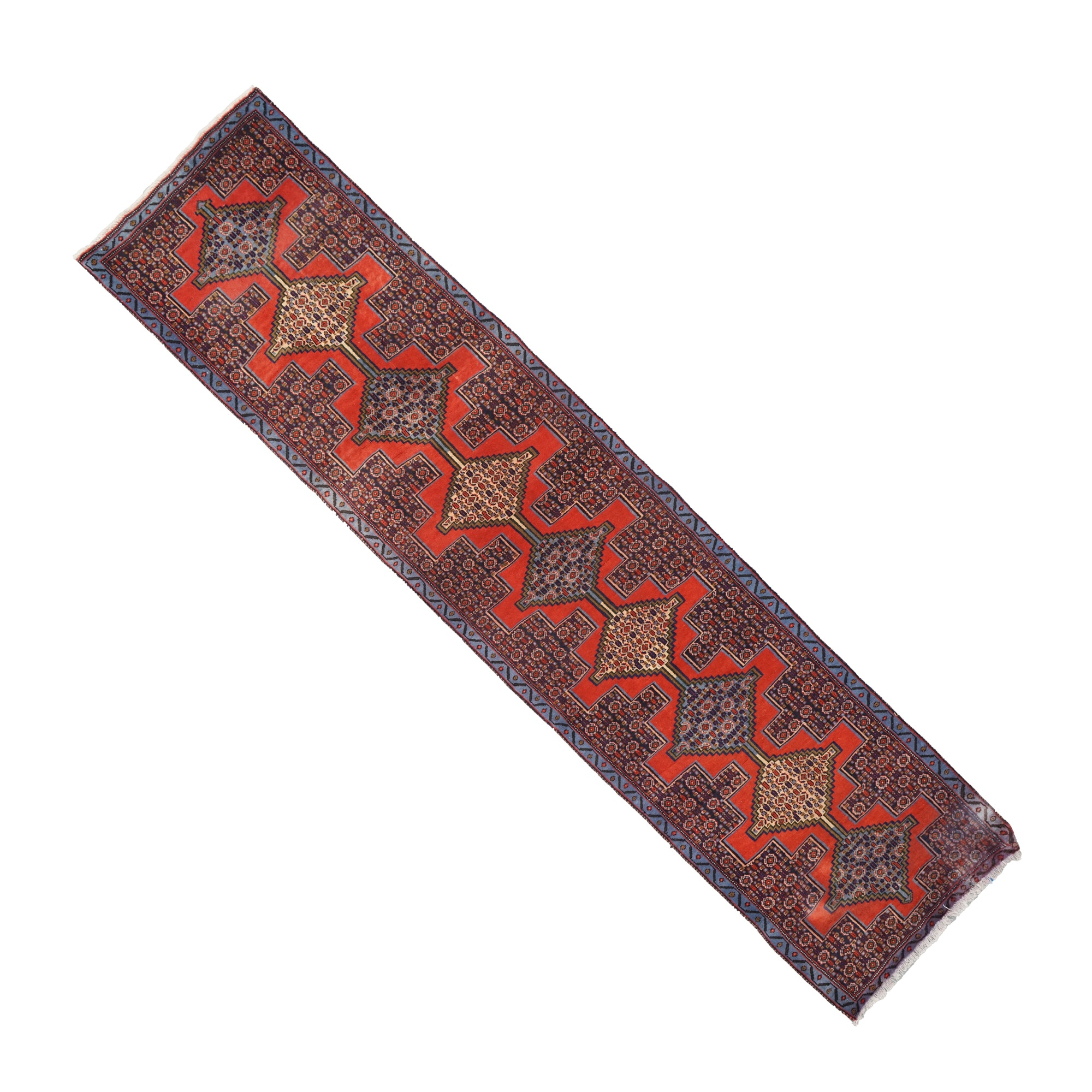 Hand Knotted Caucasian Wool Carpet Runner