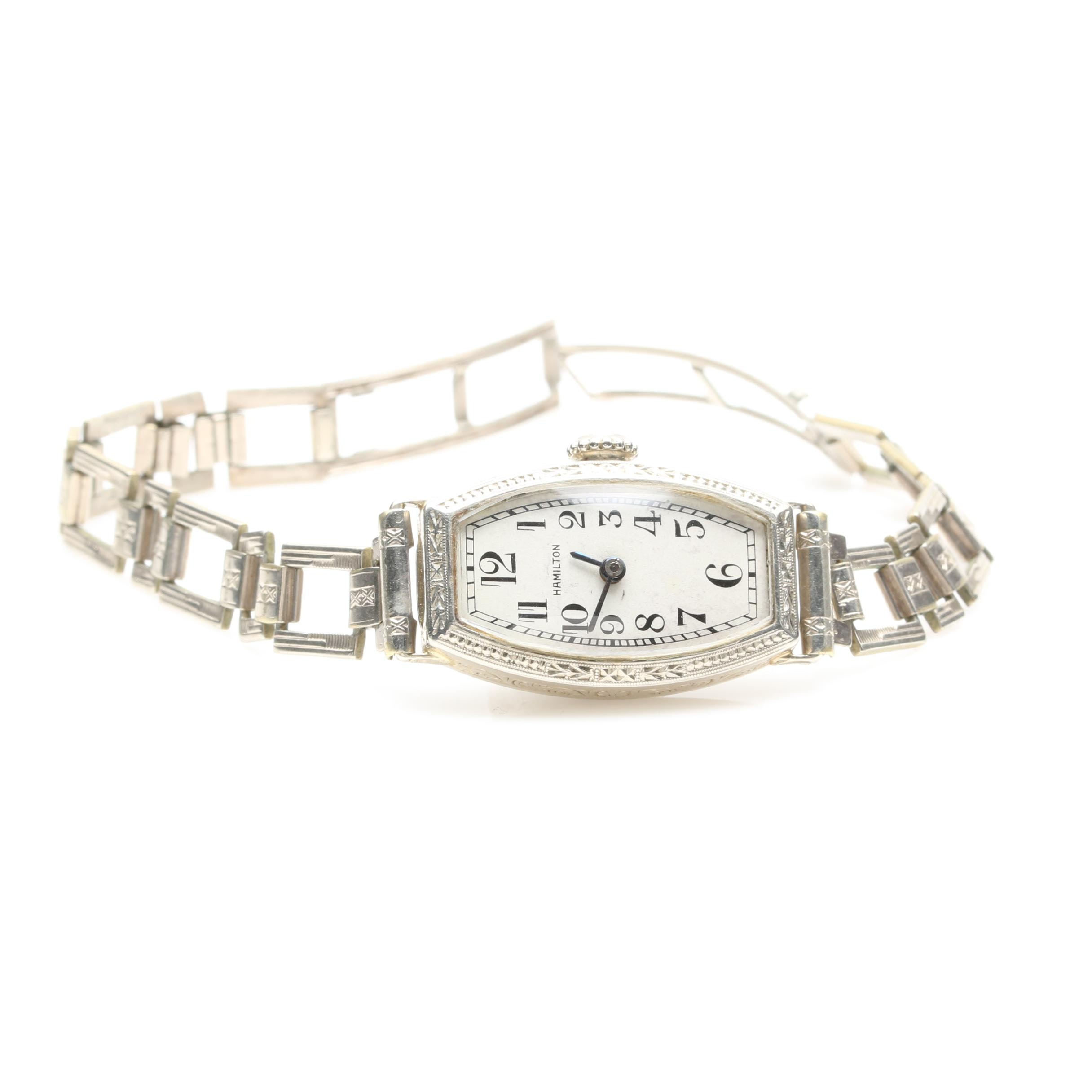 Hamilton 14K White Gold and 12K Gold Filled Wristwatch